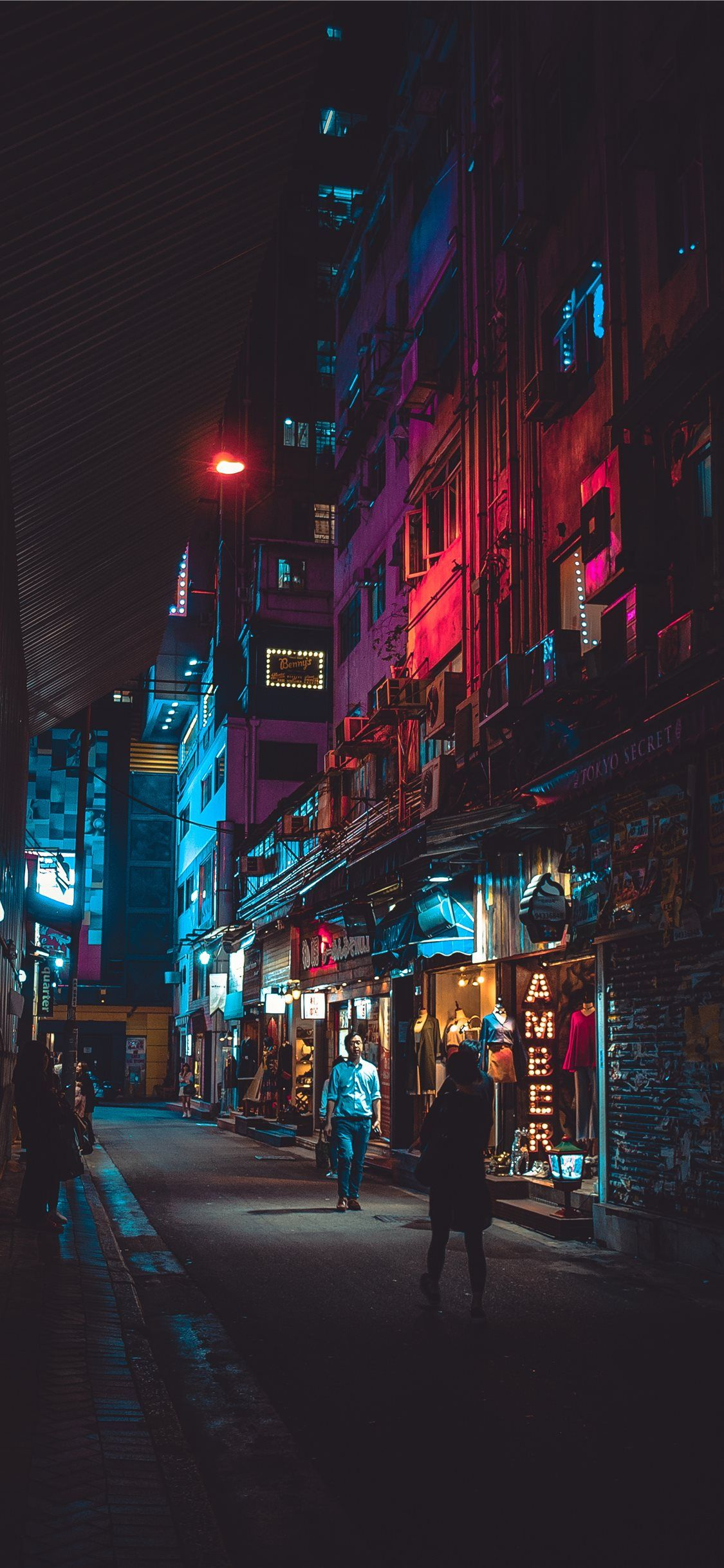 1125x2436 Night in Hong Kong iPhone X Wallpapers Free Download