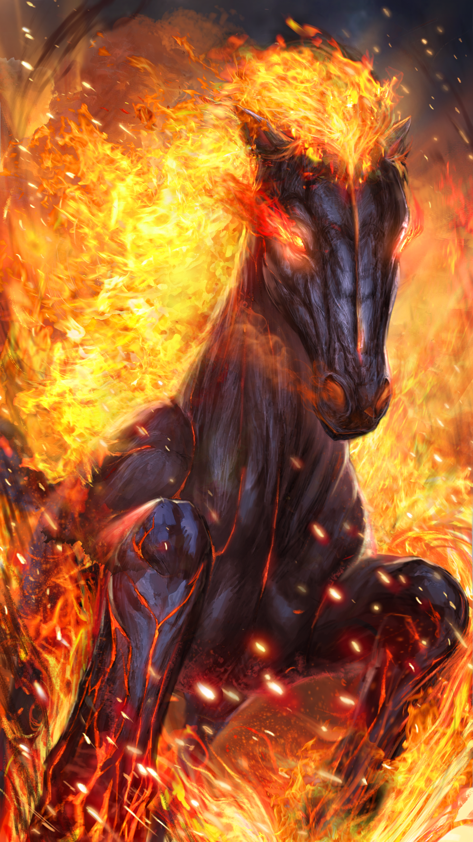 1620x2880 Hot fire horse live wallpaper! | Android live wallpapers ...