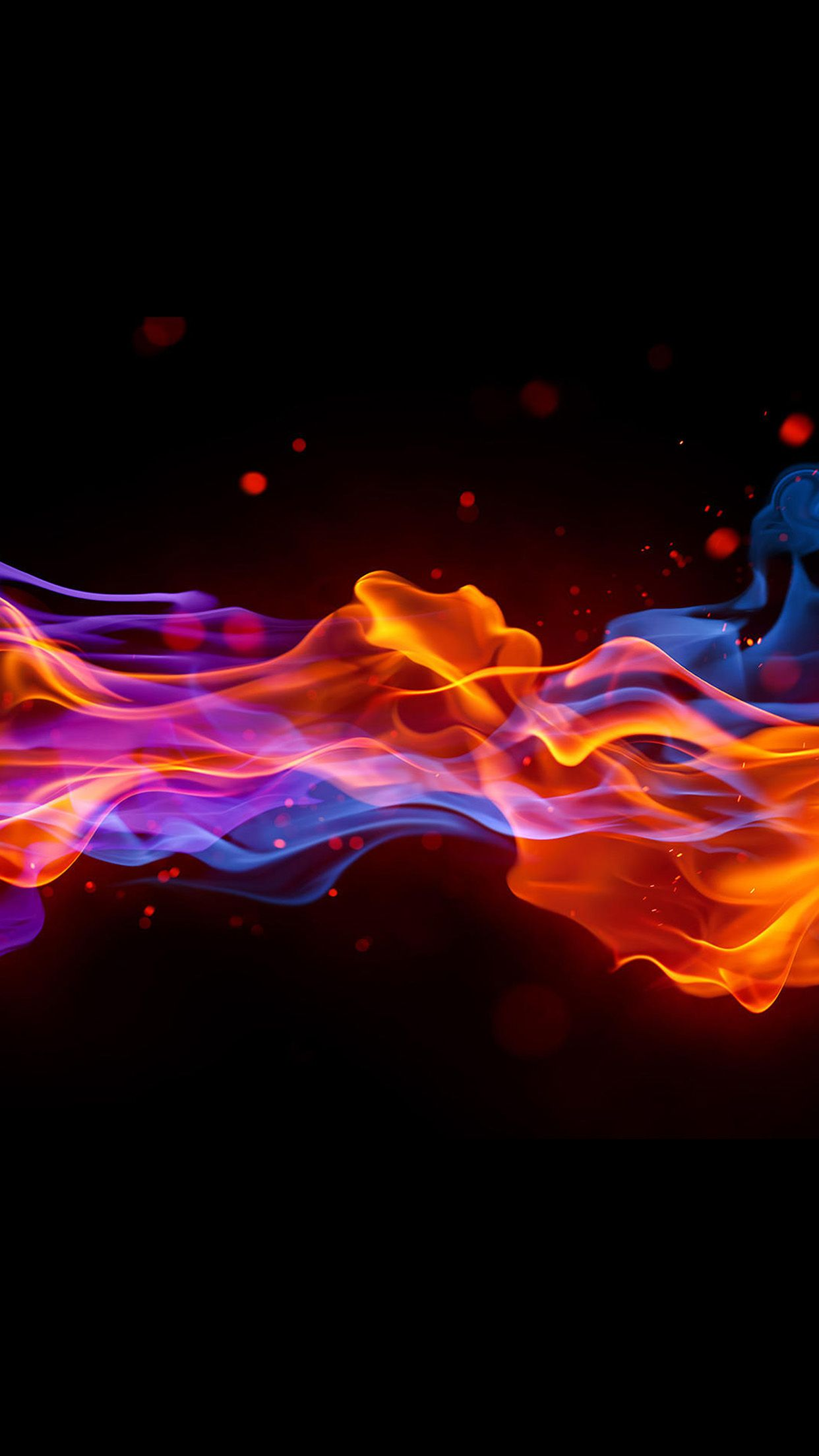 1242x2208 Fire Cold Abstract Pattern Android wallpaper - Android HD ...