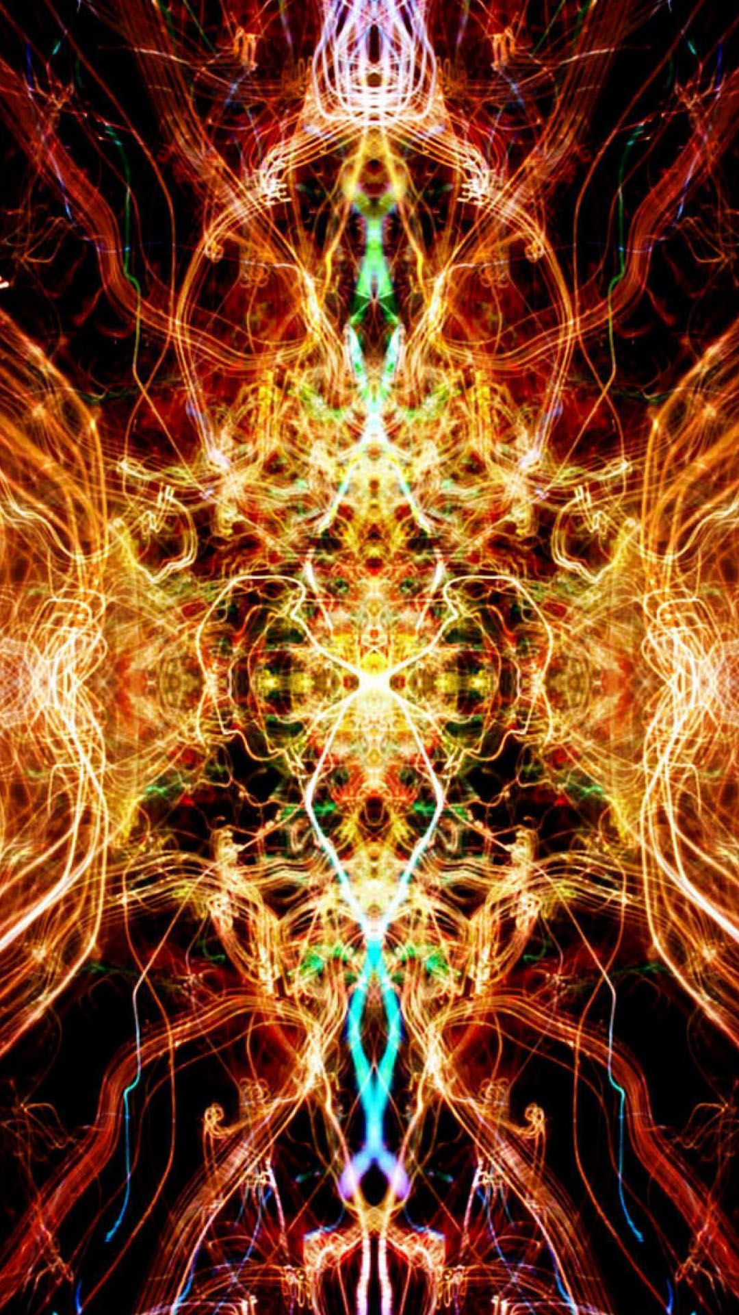 1080x1920 Flame Kaleidoscope Fire Abstract android wallpapers