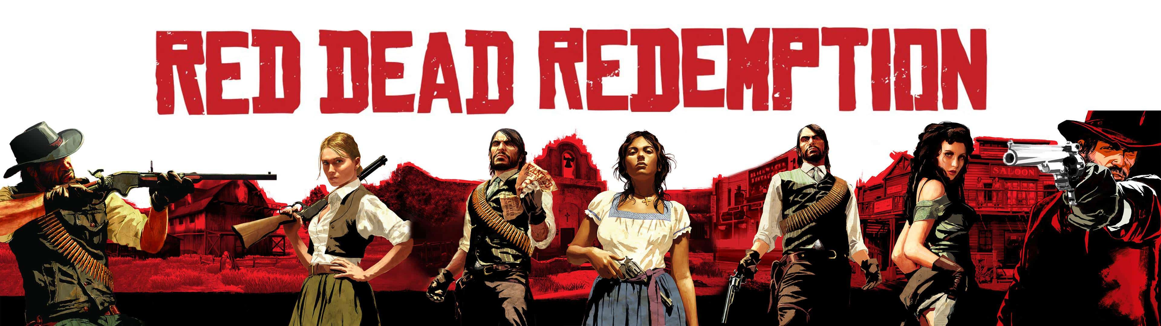 3840x1080 Red Dead Redenmption Cover Dual Monitor Wallpaper | Pixelz