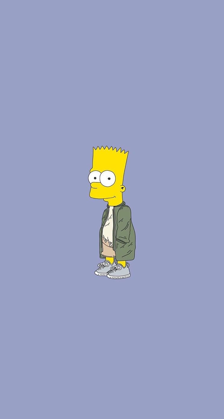 744x1392 64689993 - Bart Simpson Blue Background, Hd Wallpapers ...