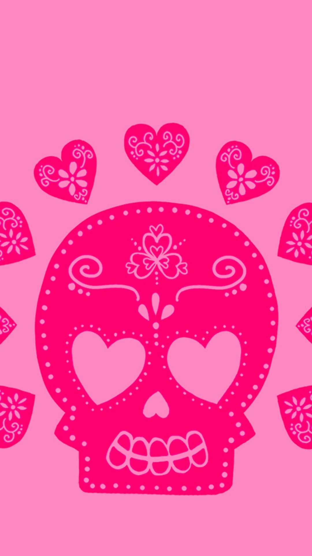 1080x1920 63+ Pink Skull Wallpapers on WallpaperPlay