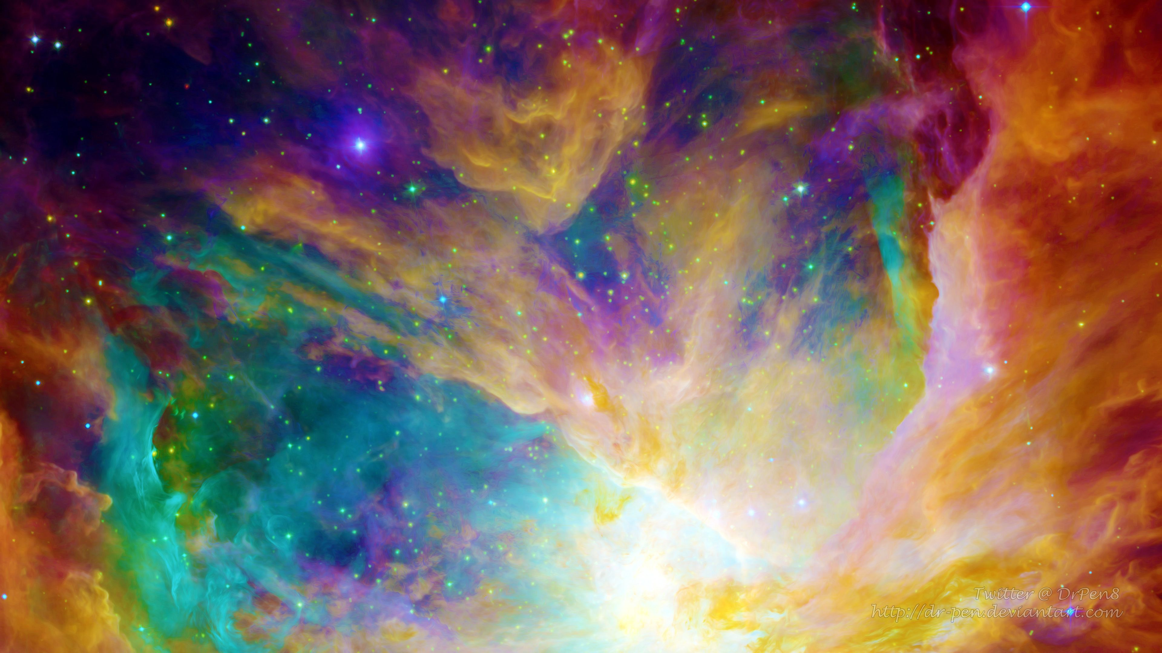 3840x2160 Rainbow Nebula - Photomanipulated Wallpaper 4k Ultra HD ...