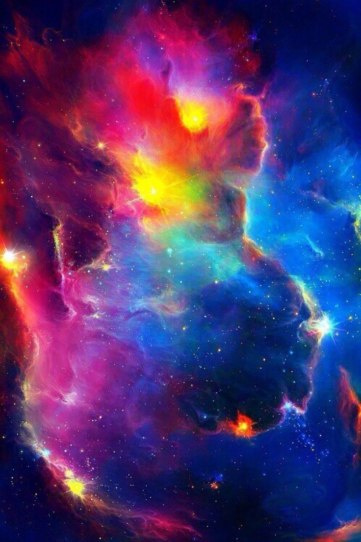 736x1104 Rainbow Nebula Galaxy Background - Pics about space ...