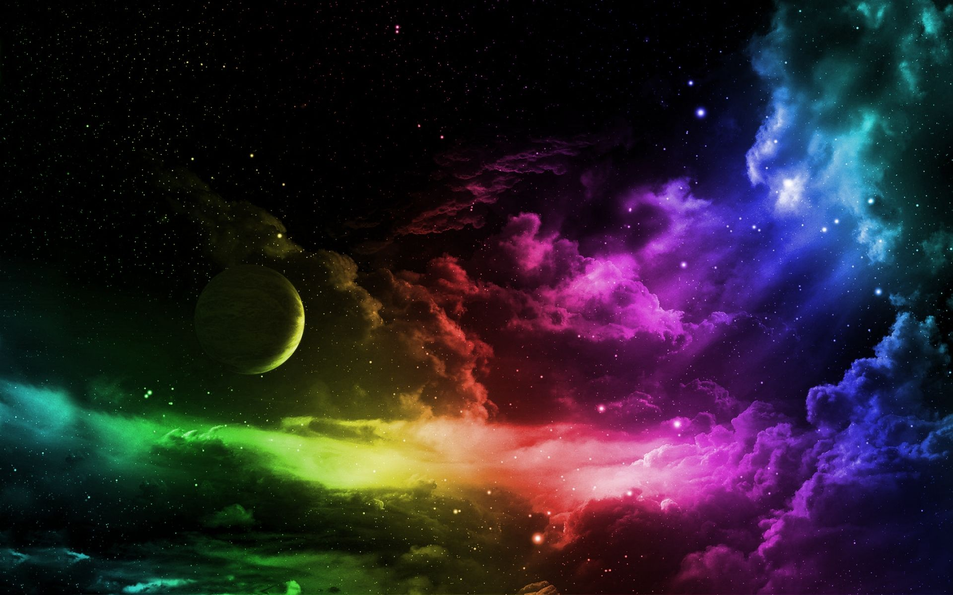 1920x1200 Rainbow Nebula Galaxy Background (109+ images in Collection ...