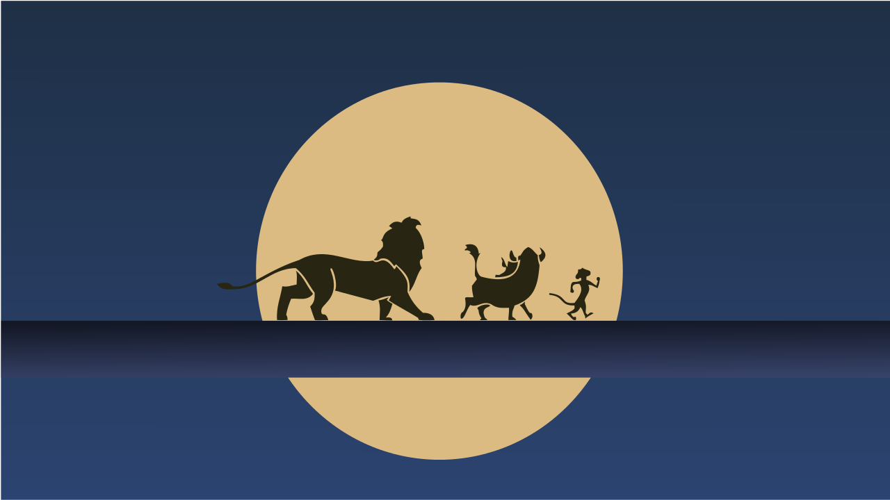 1280x720 My minimalist Hakuna Matata Wallpaper I ... in 2019 | Disney ...