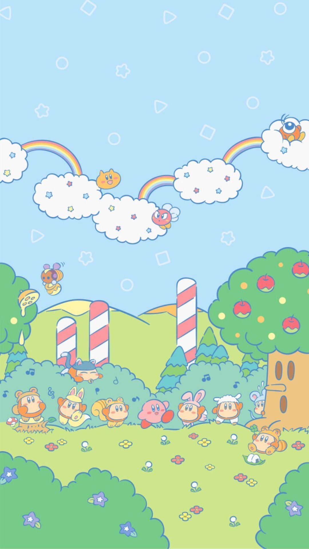 """1080x1920 atokyojourney: """"New kirby wallpapers released on Nintendo's ..."""