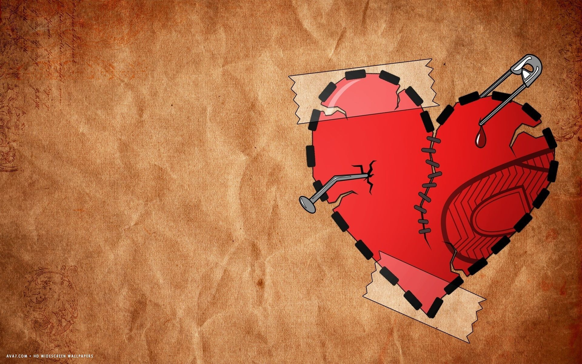 1920x1200 66+ Broken Heart Wallpapers on WallpaperPlay
