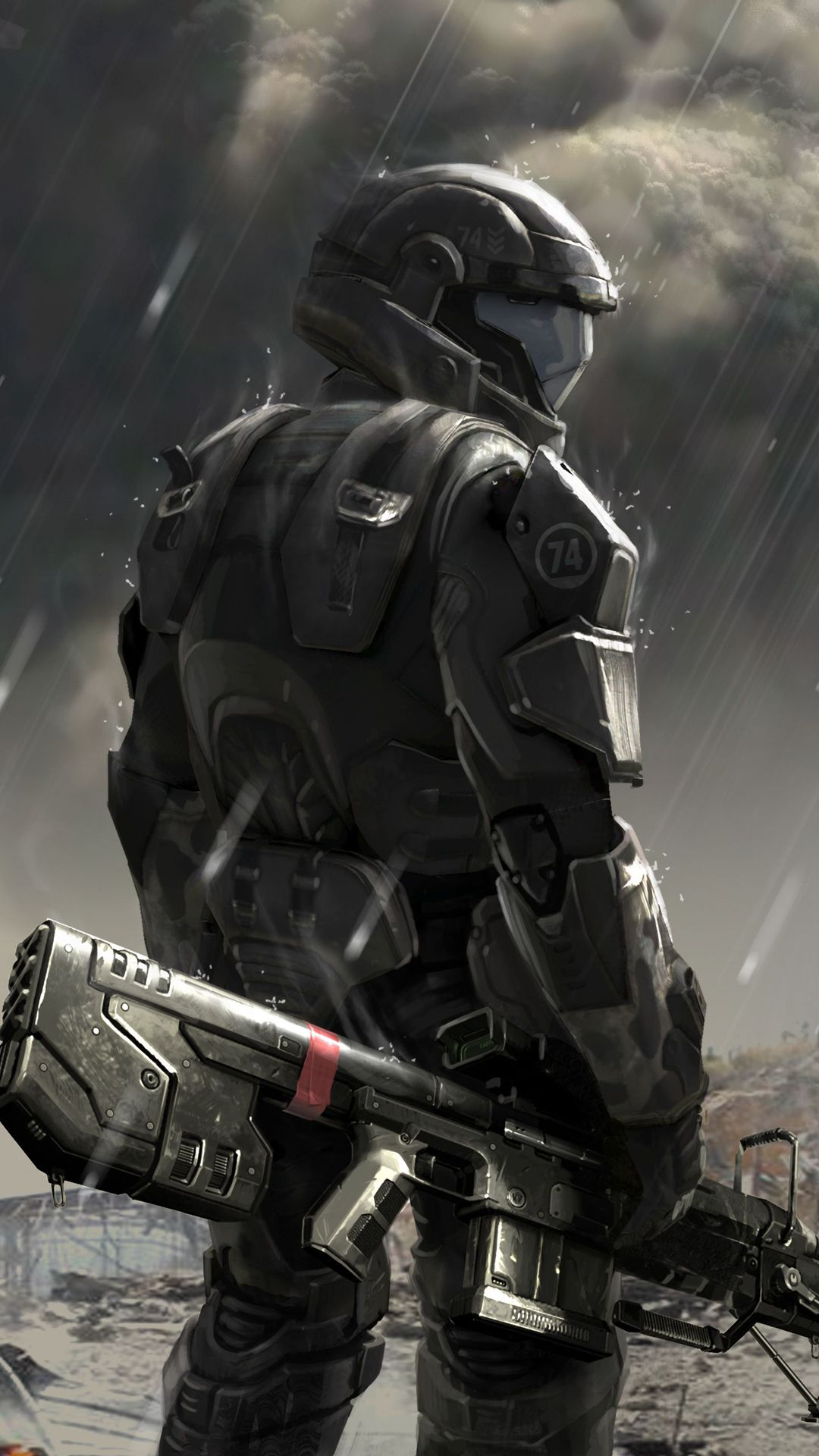 1080x1920 Soldier concept Halo 4 - Best htc one wallpapers