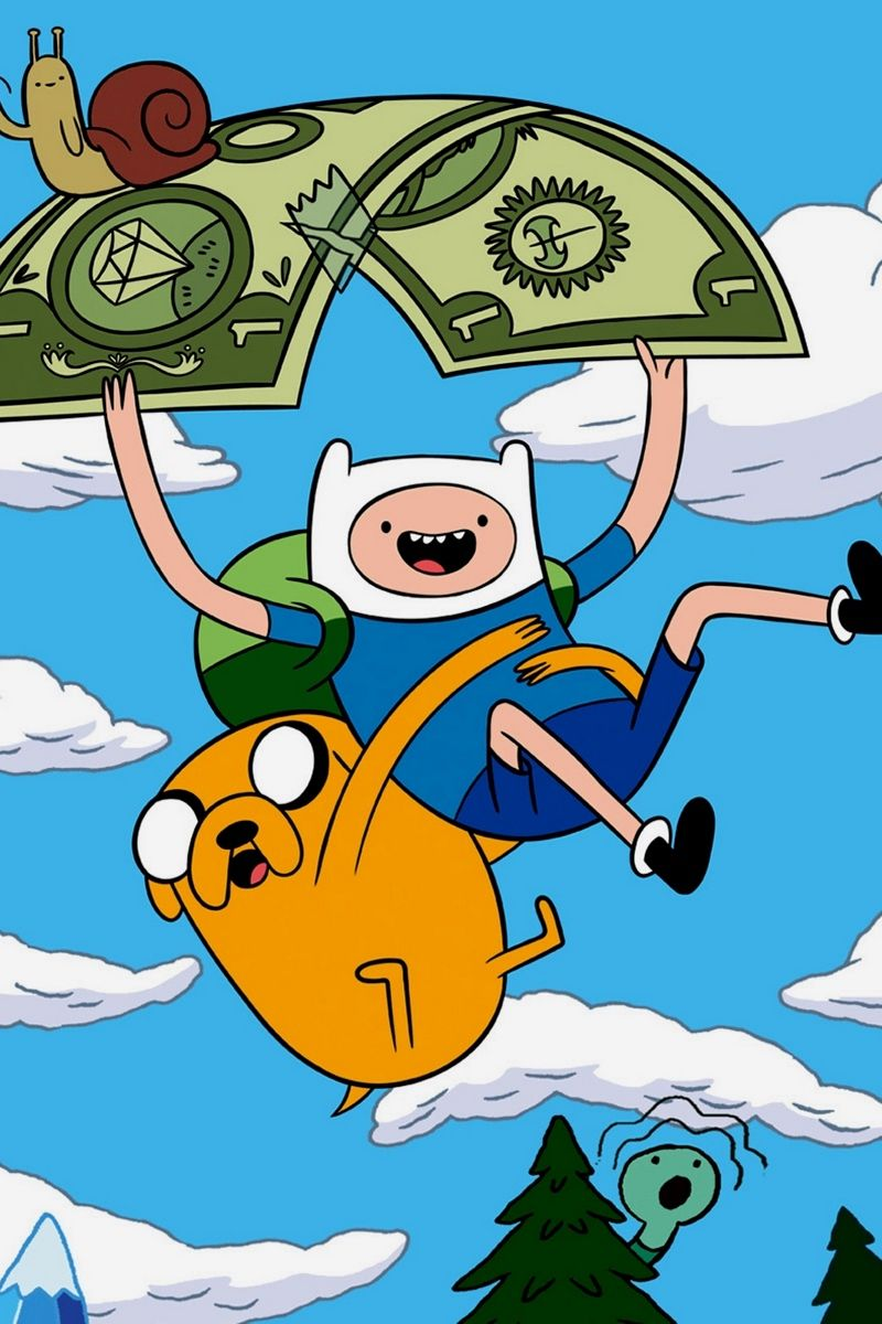 800x1200 Download wallpaper 800x1200 adventure time with finn and ...