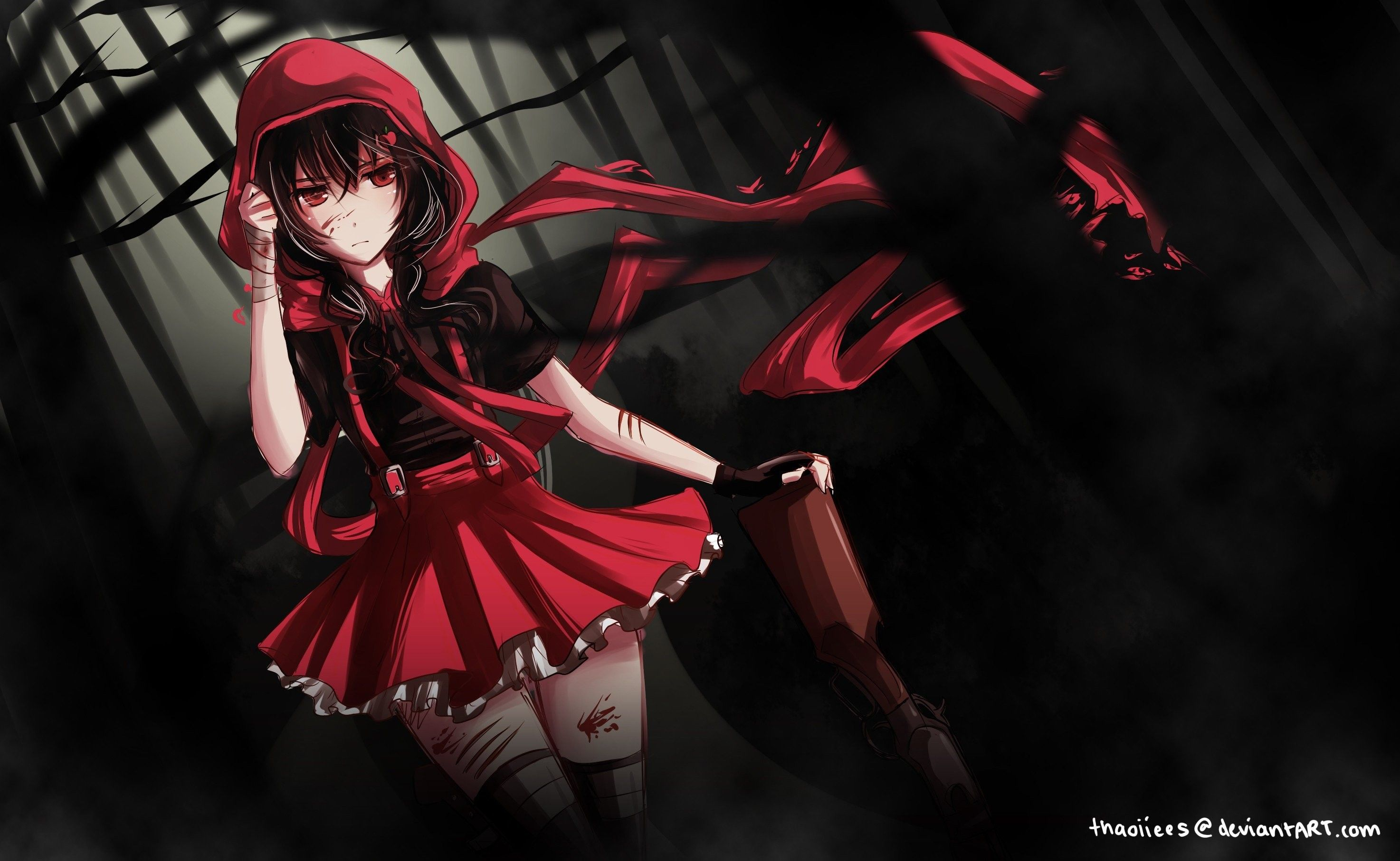 2947x1814 Red and Black Anime Wallpaper (72+ images)
