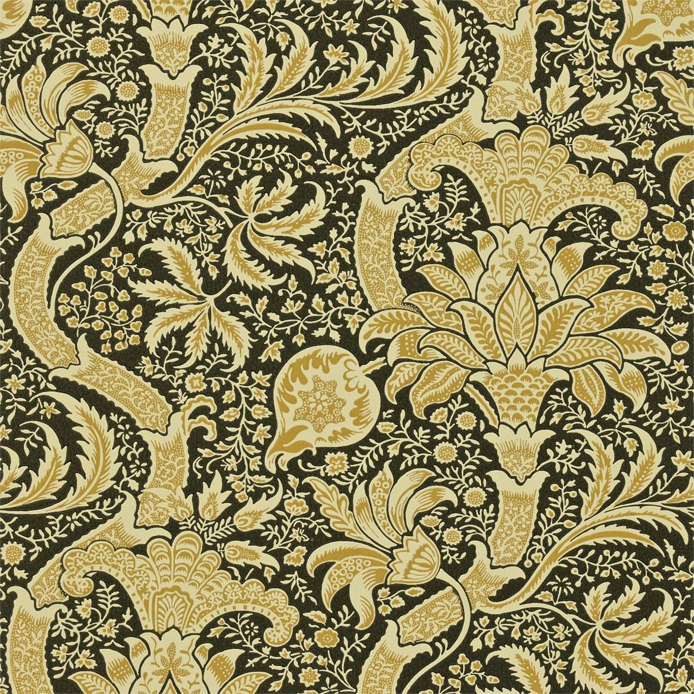 1386x1386 Indian Wallpaper - Gold/Black (DMOWIN101) - William Morris & Co ...