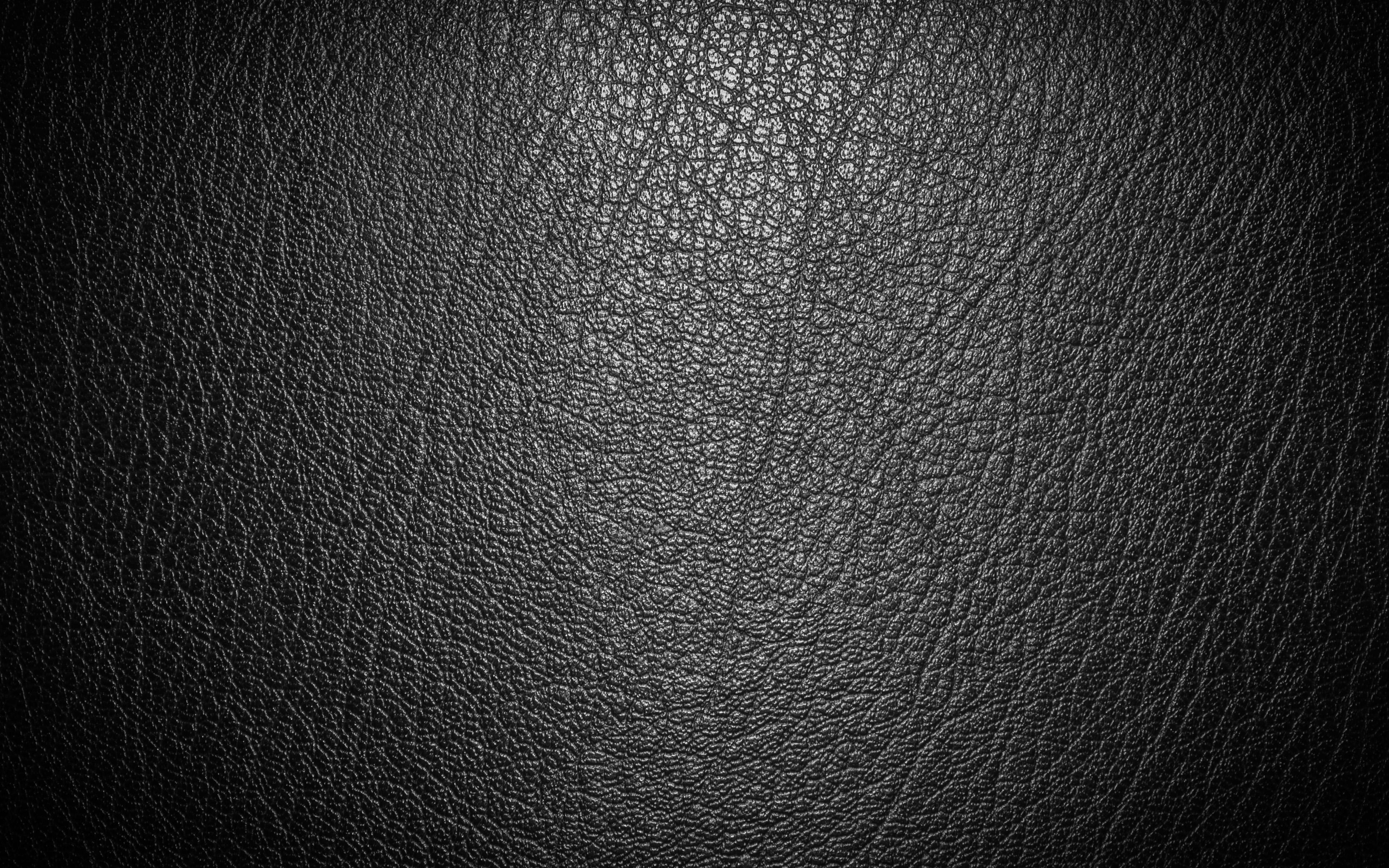 3840x2400 Download wallpapers black leather texture, 4k, fabric ...