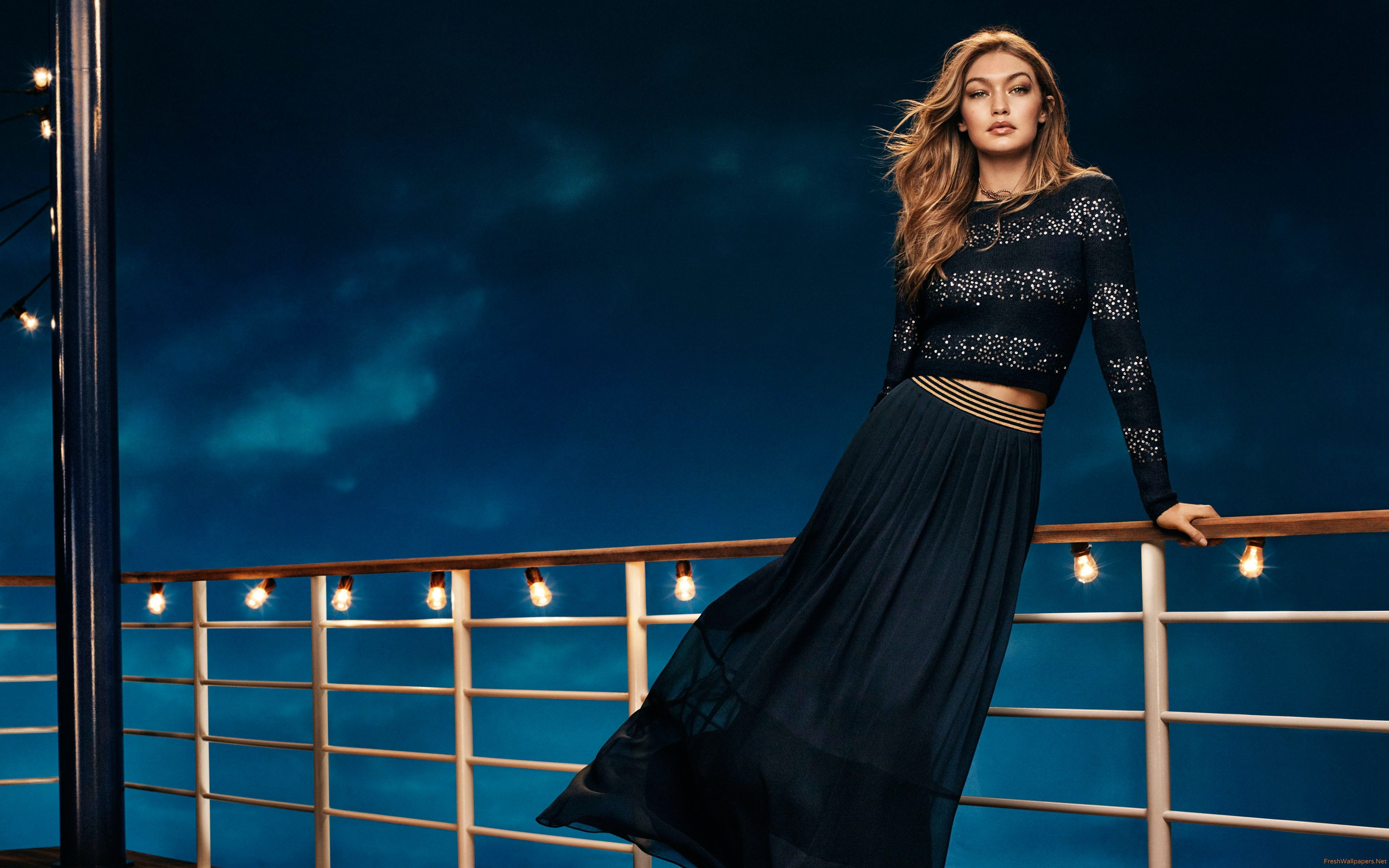 4000x2500 Gigi Hadid Tommy Hilfiger Collection 4K wallpapers ...