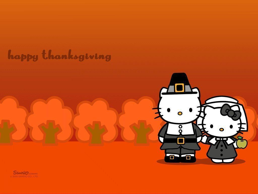 1024x768 Hello Kitty Thanksgiving Wallpapers