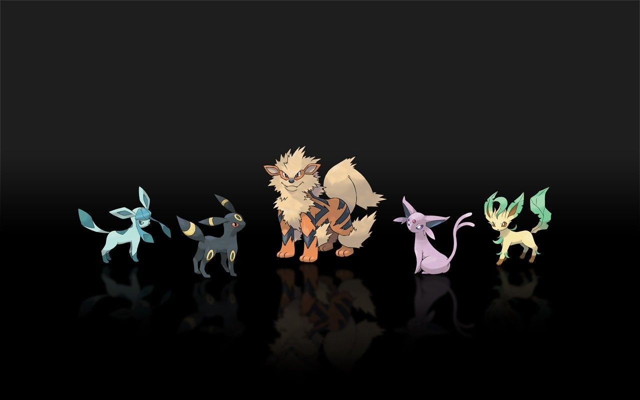 1280x800 Pokemon espeon jolteon arcanine leafeon glaceon wallpaper ...