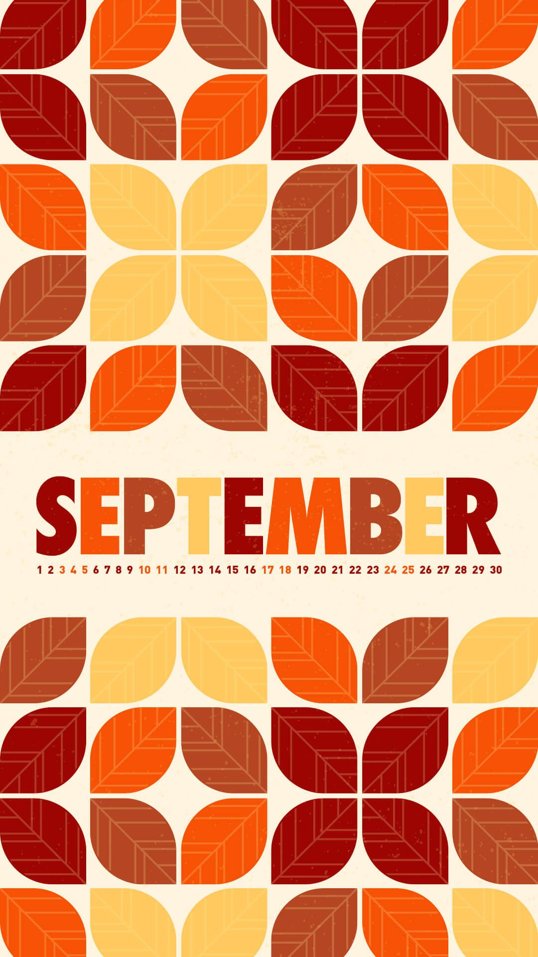 1080x1920 September 2016 Desktop Calendar Wallpaper | Paper Leaf