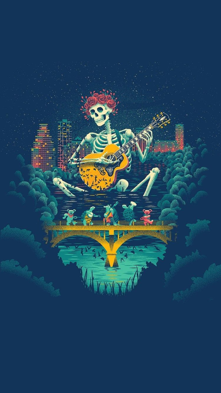 750x1334 Made an iPhone Wallpaper from the Texas poster :) : gratefuldead