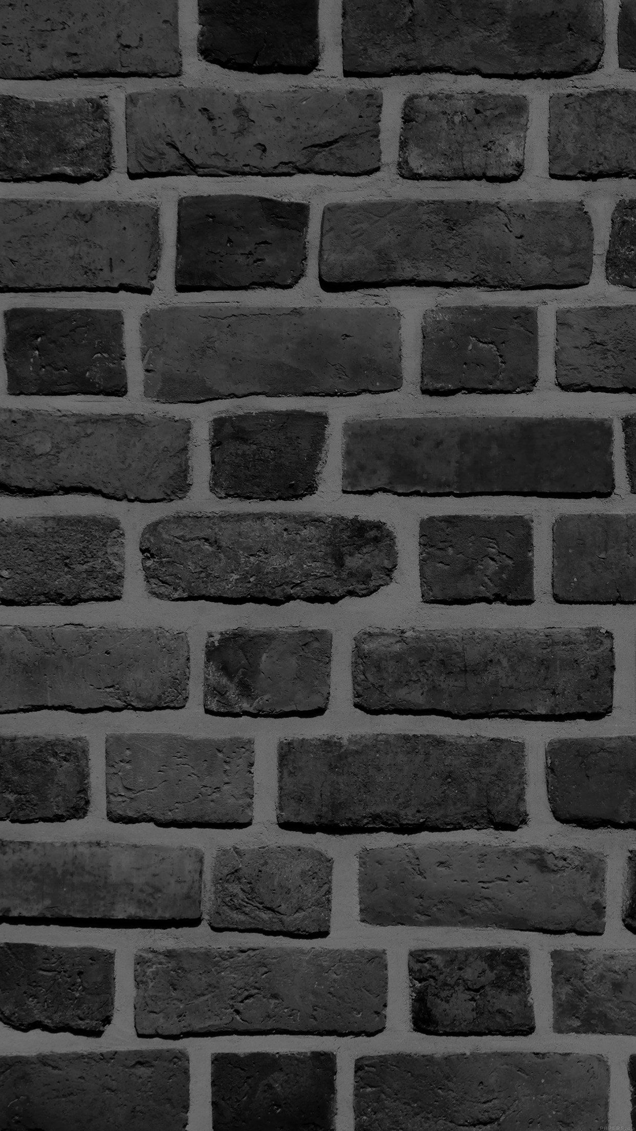 1242x2208 iPhone7papers - vf57-brick-texture-wall-bw-black-nature-pattern
