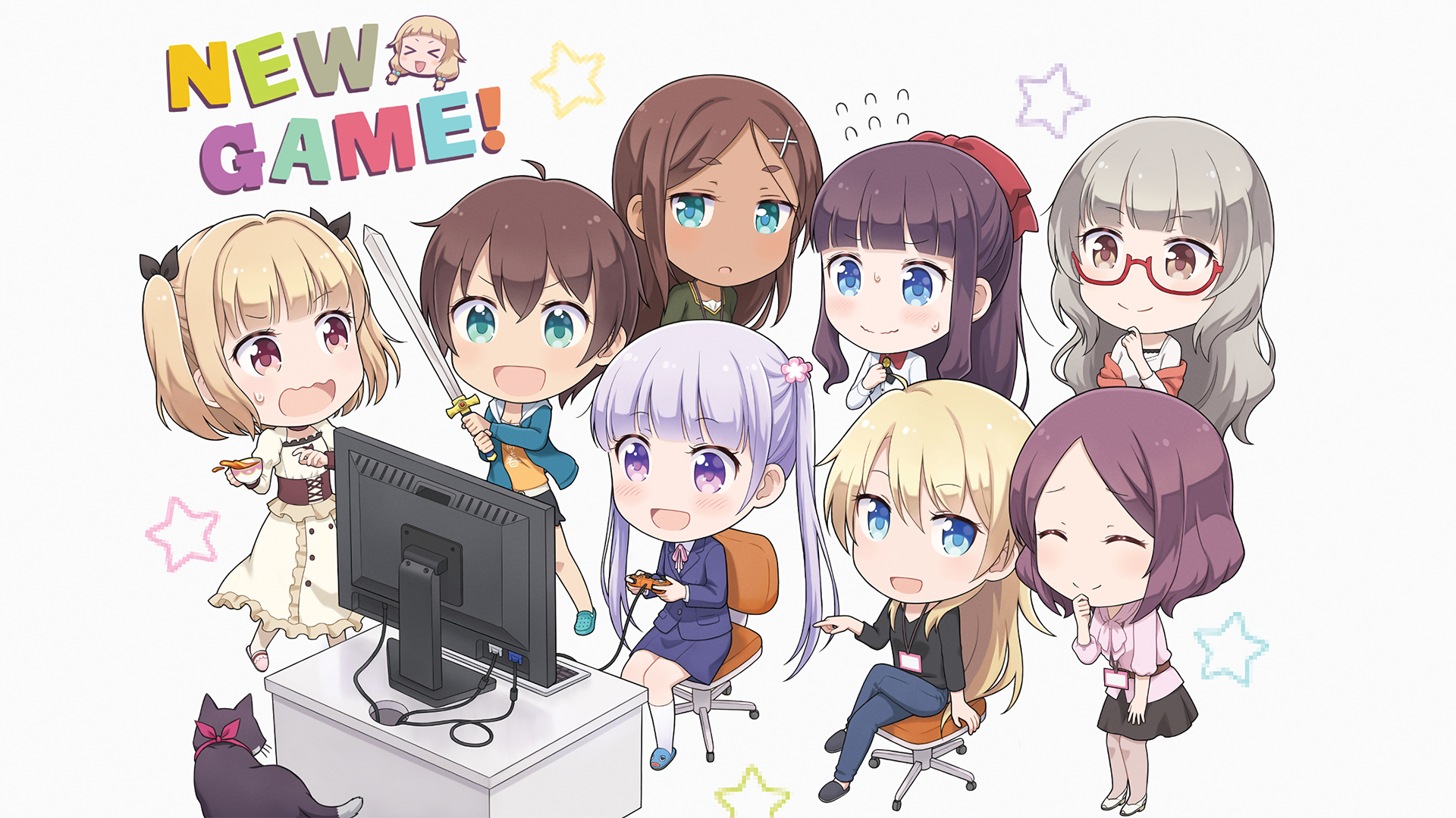 1920x1080 New Game! Wallpapers and Background Images - stmed.net