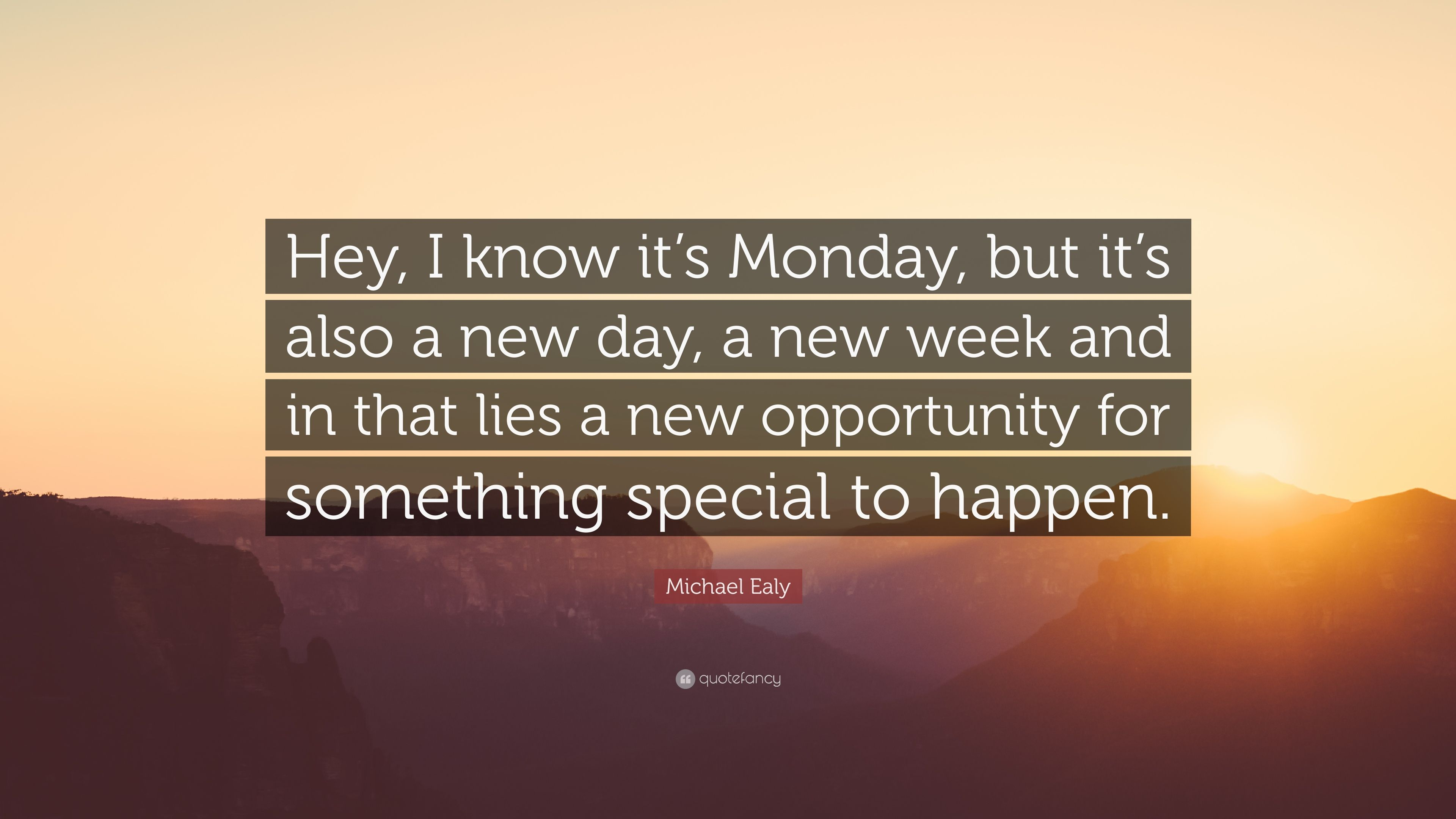 """3840x2160 Michael Ealy Quote: """"Hey, I know it's Monday, but it's also ..."""