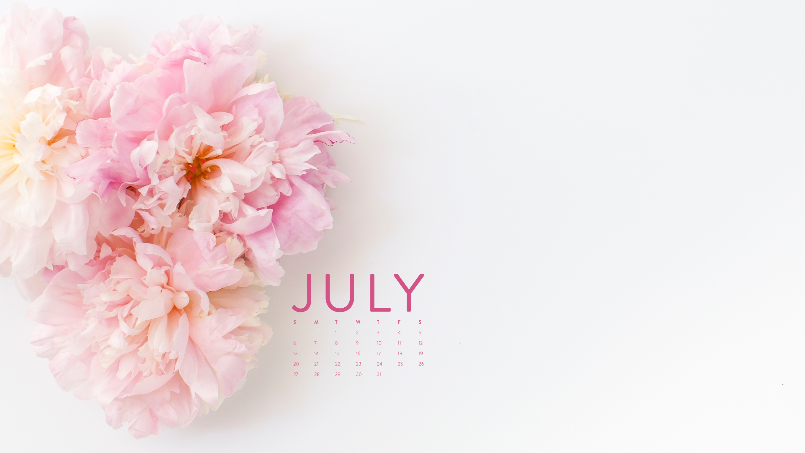 2560x1440 Welcome July Wallpaper