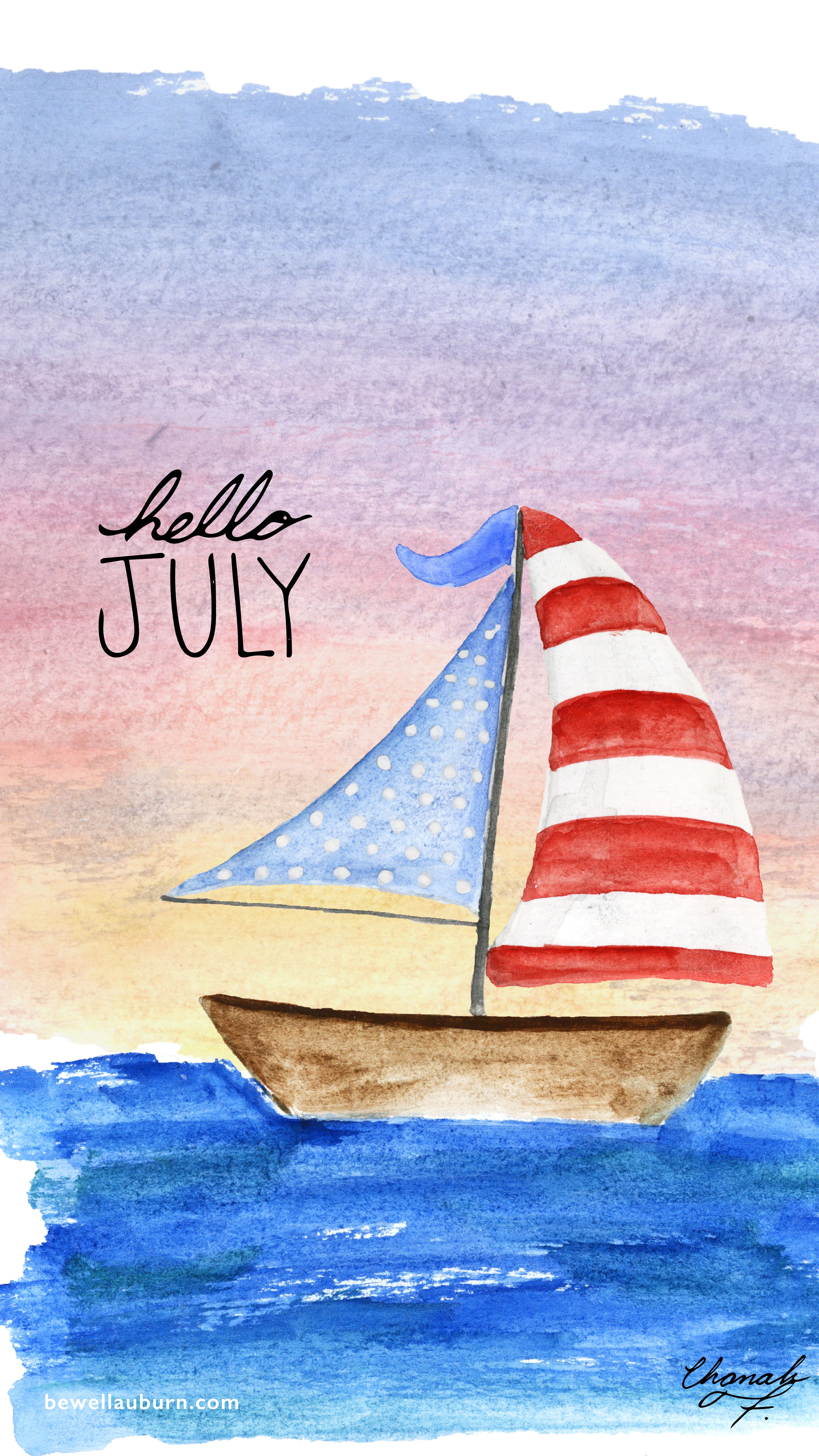 4500x8000 Hello July! — Be Well