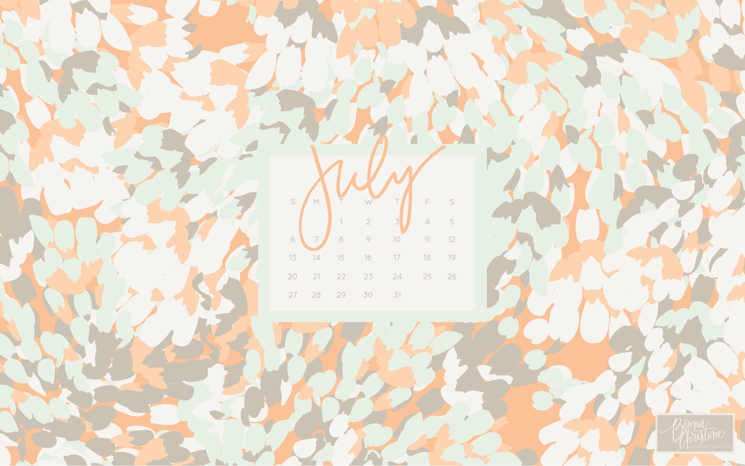2400x1500 july desktop + iphone calendars : going home to roost