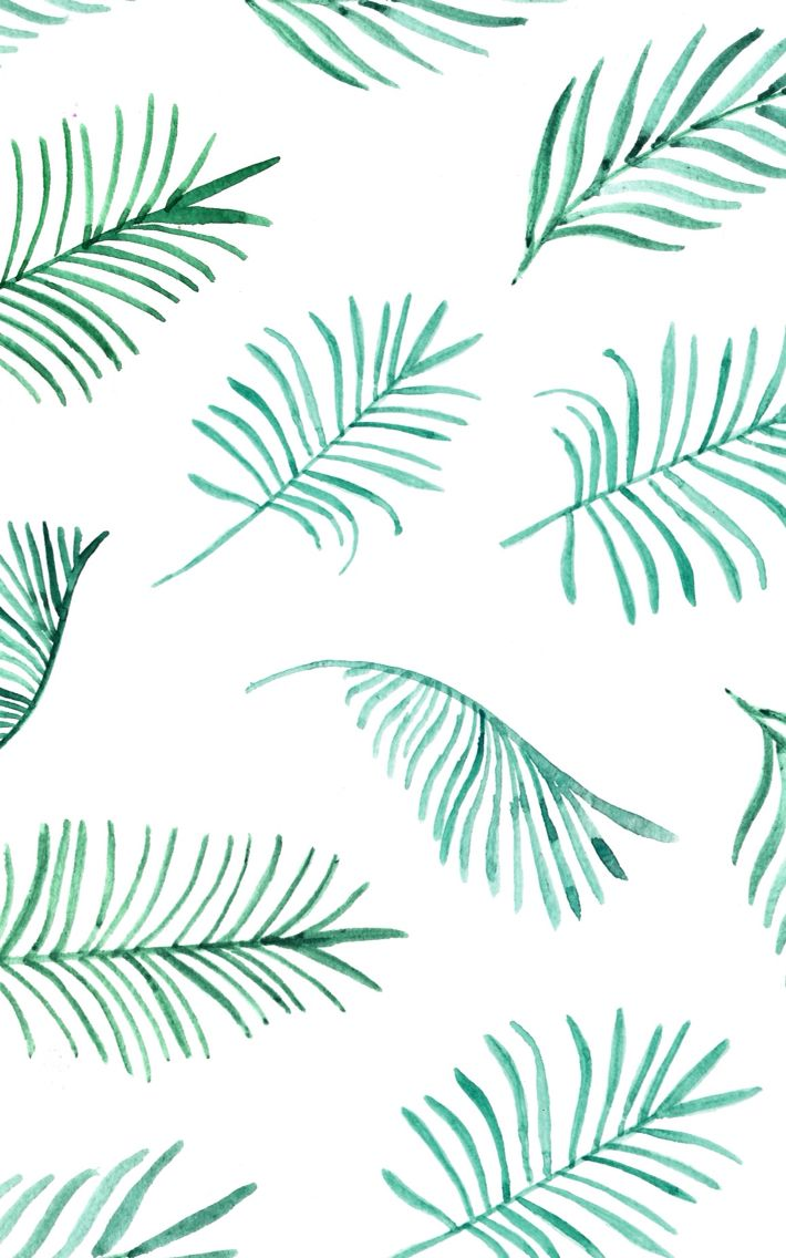 710x1136 15+ Watercolor Palm Leaf Wallpapers - Download at WallpaperBro