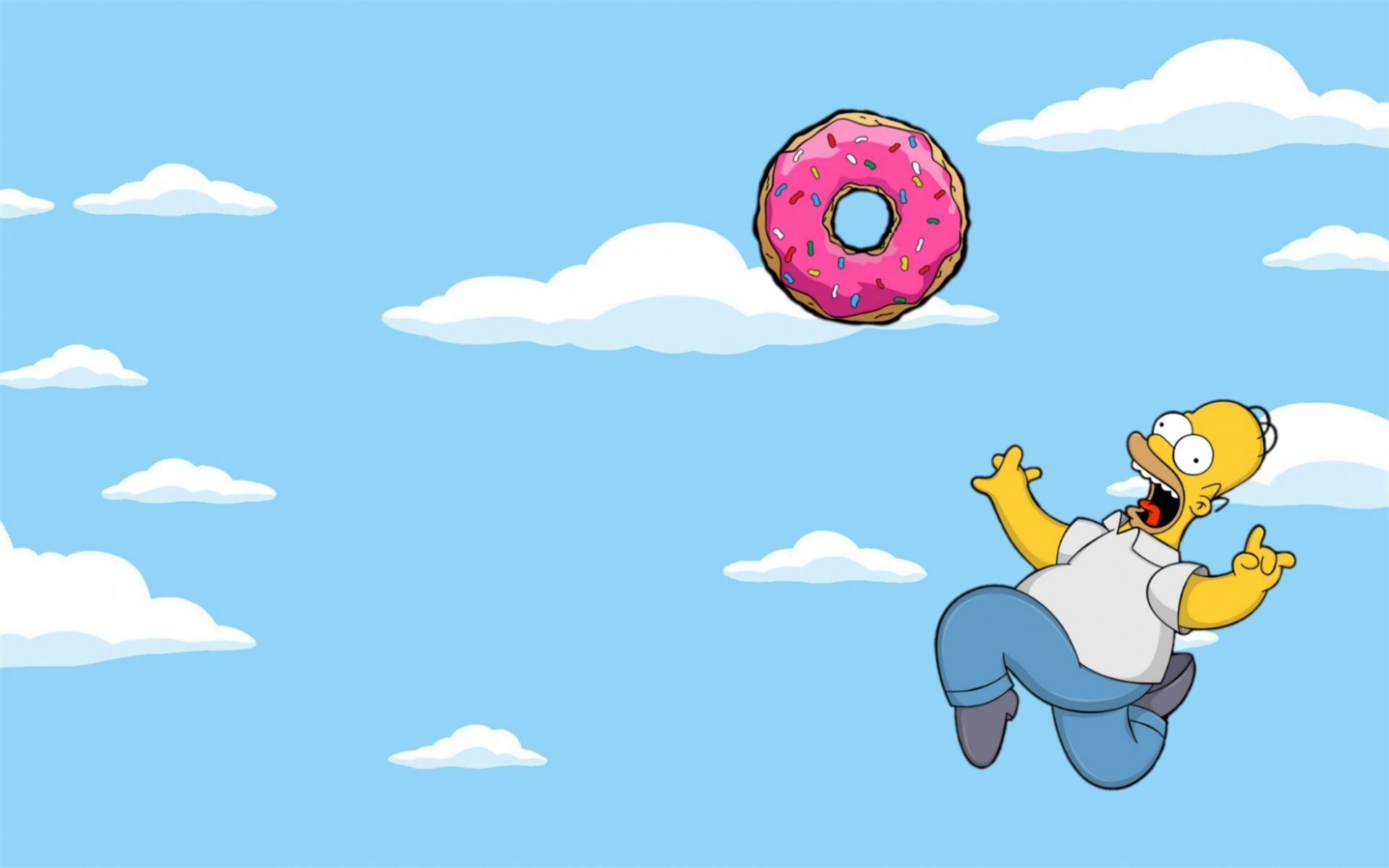 1920x1200 Download wallpapers Homer Simpson, sky, donut, The Simpsons ...