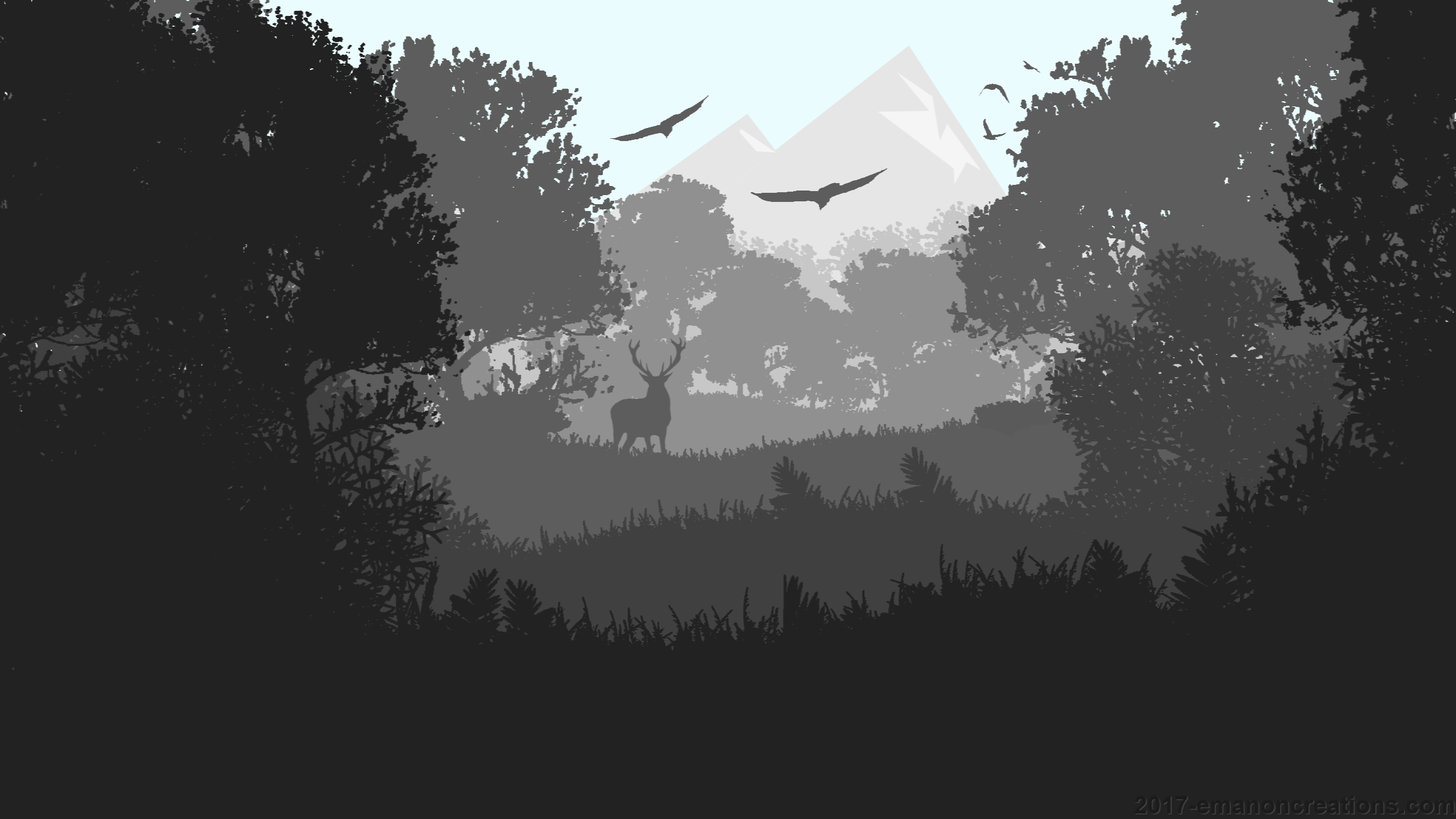 2560x1440 Minimalist Forest Wp 01 2560x1440 - Wallpaper - EmanonCreations