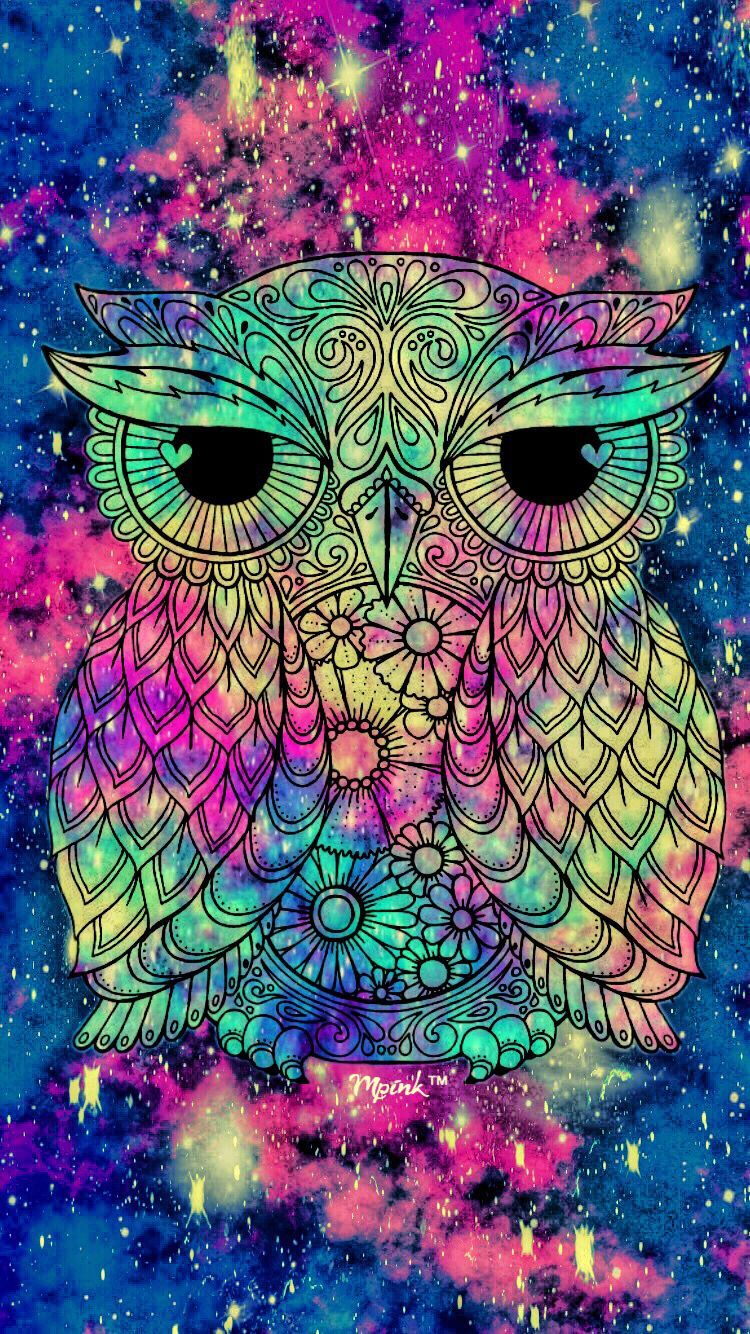 750x1334 Grunge Owl Galaxy iPhone/Android Wallpaper I Created For The ...