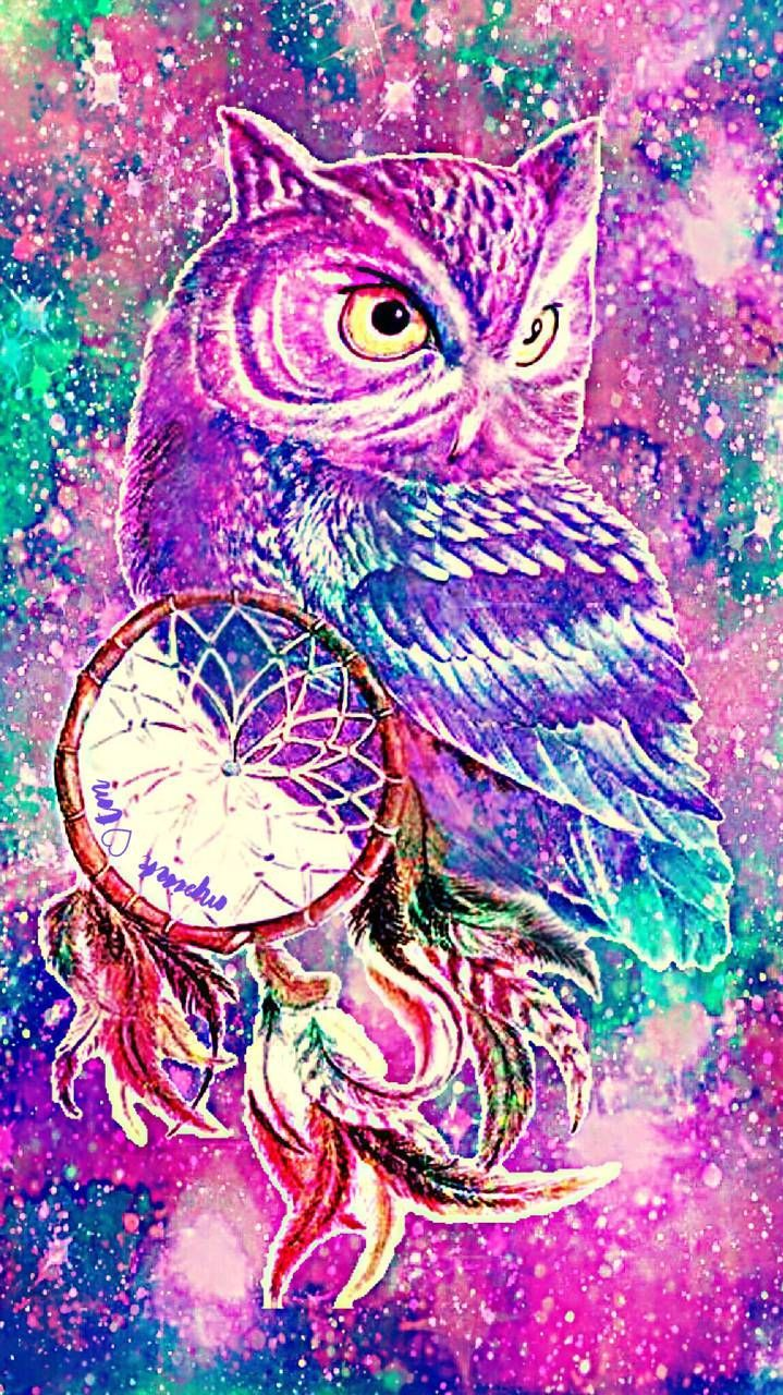 719x1280 Dream Catcher Owl iPhone & Android galaxy wallpaper created ...