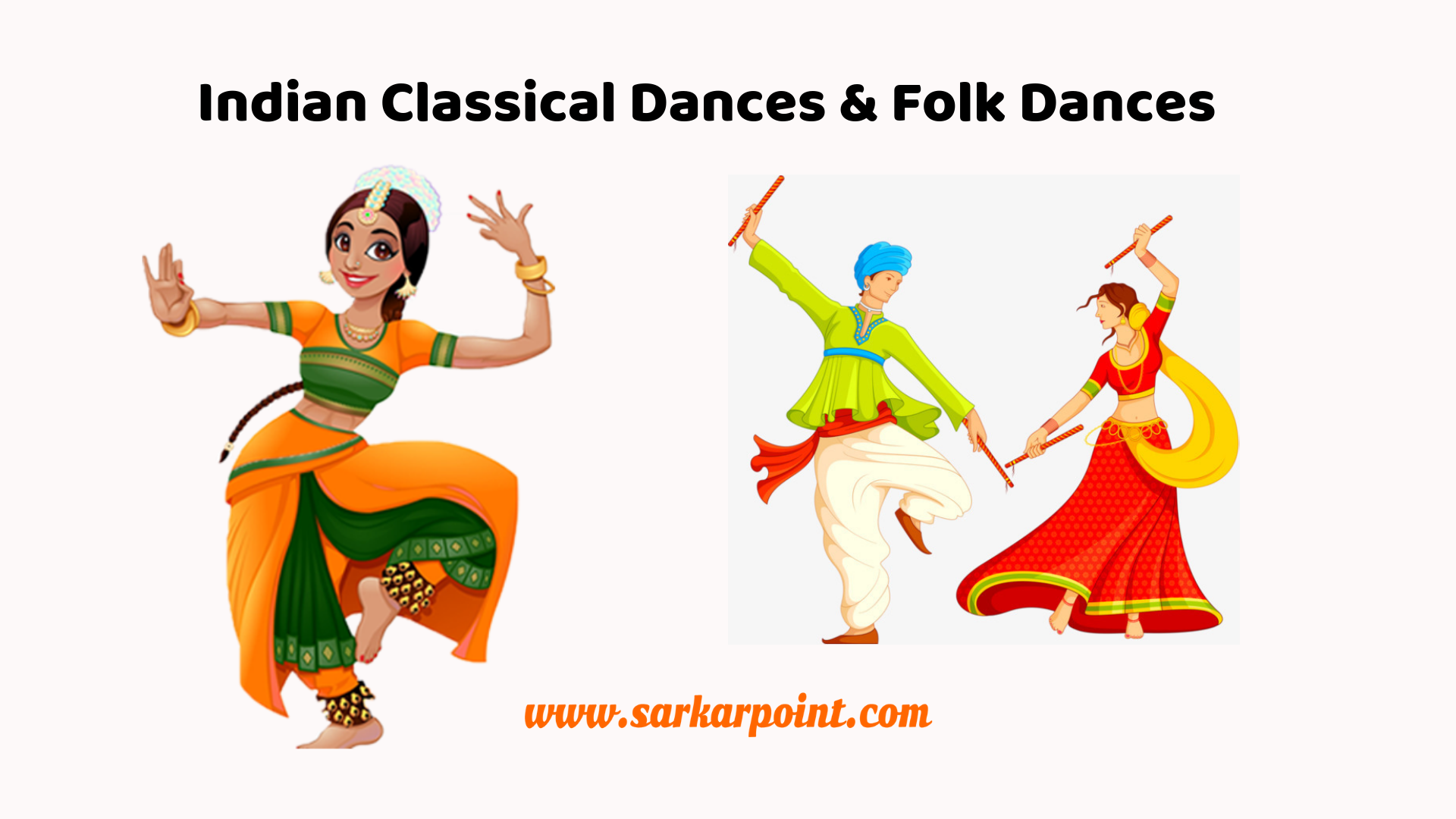 1920x1080 Indian Classical Dances & Folk Dances | Static GK - SarkarPoint