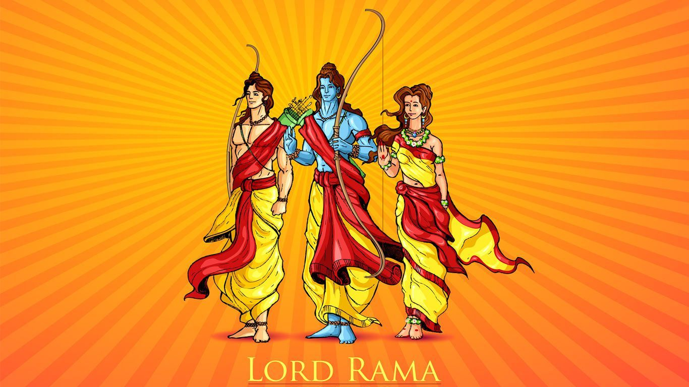 1366x768 Shri Ram HD Wallpaper Full Size Free Download | Lord Rama ...