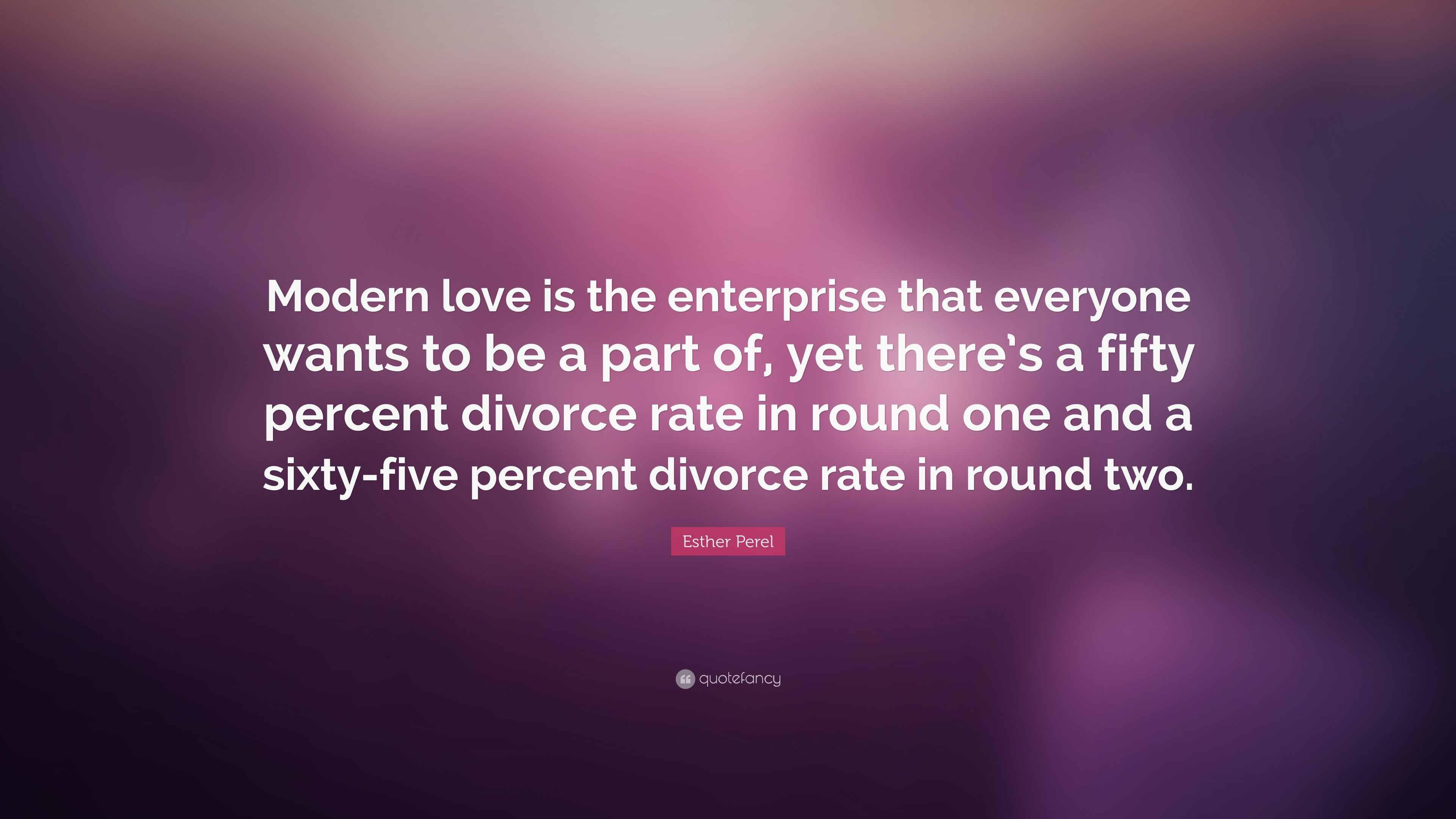 """3840x2160 Esther Perel Quote: """"Modern love is the enterprise that ..."""