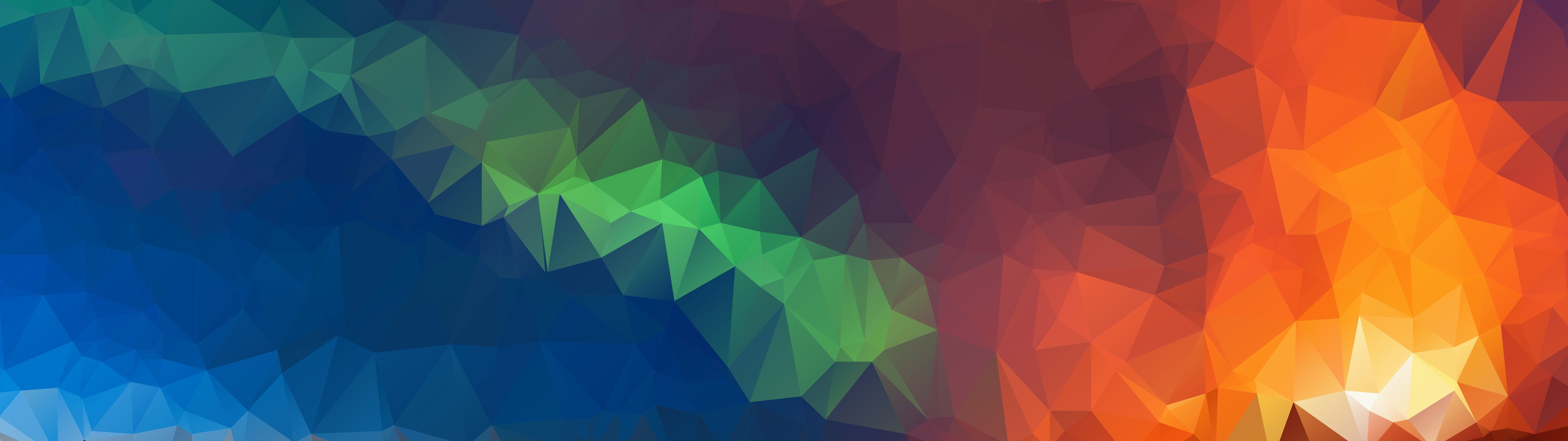 7680x2160 Abstract Colorful Polygon 8K 7680x4320 Wallpaper #31