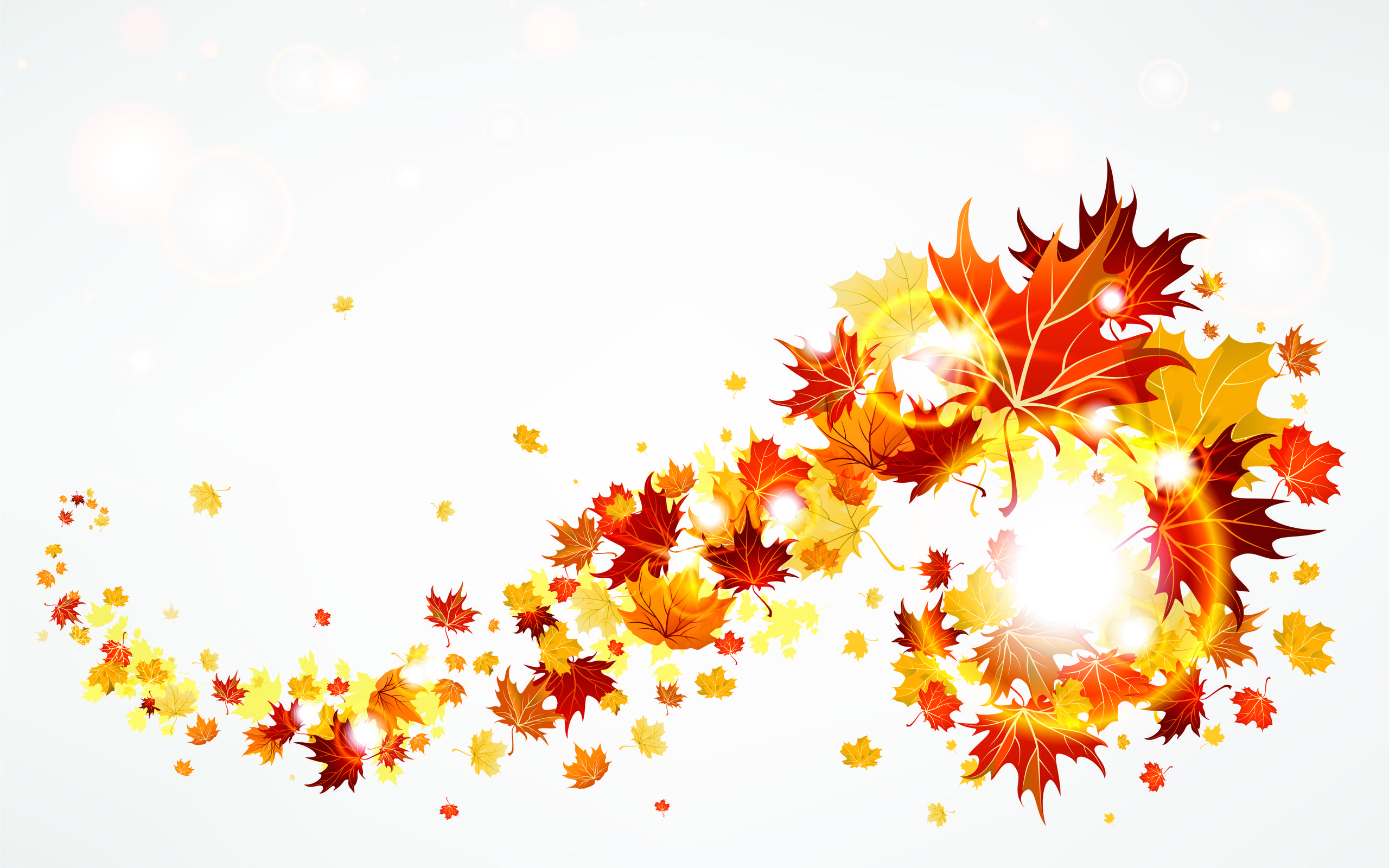 2560x1600 Autumn Leaves Abstract wallpapers