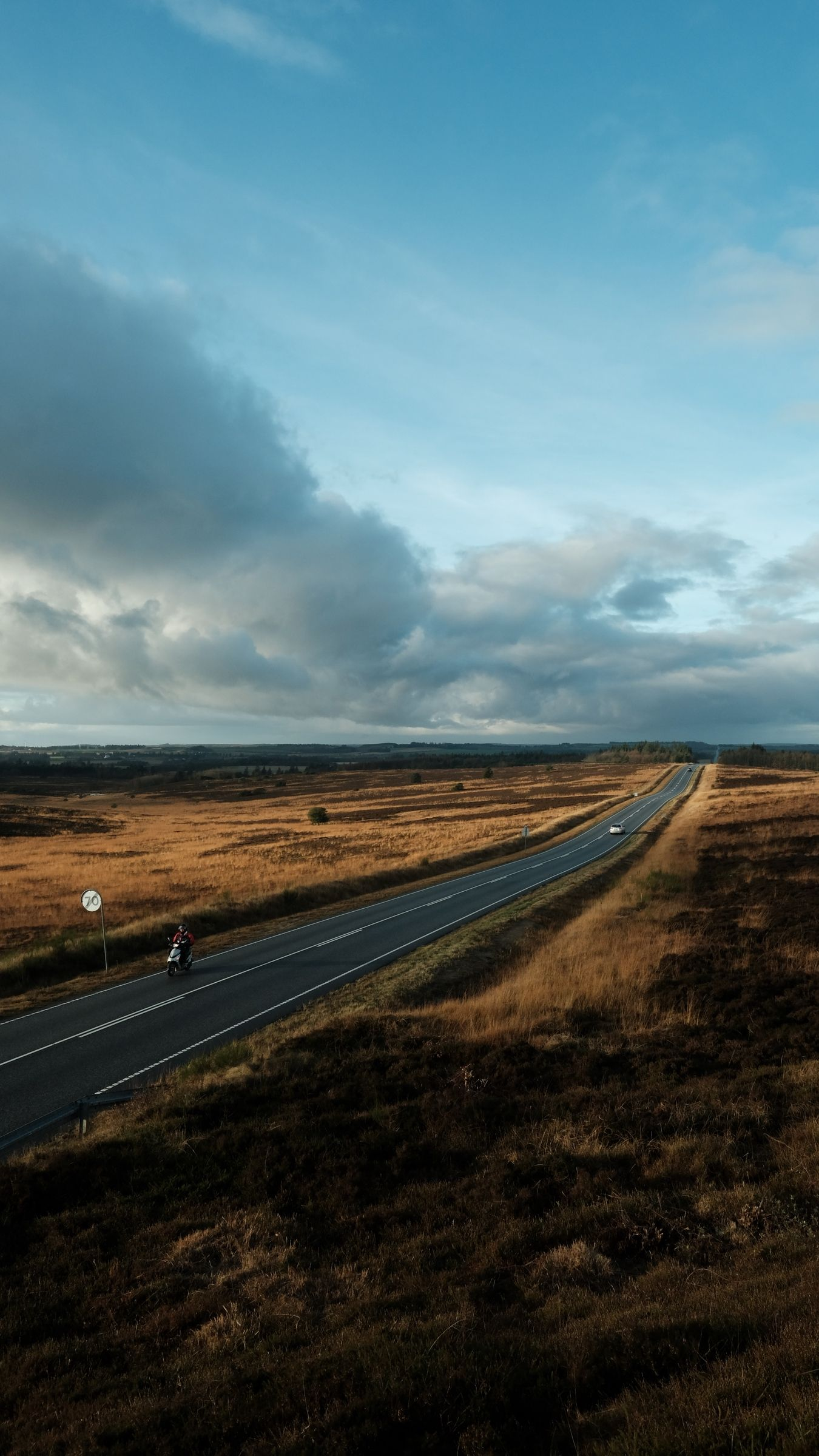 1350x2400 Download wallpaper 1350x2400 road, marking, fields, country ...