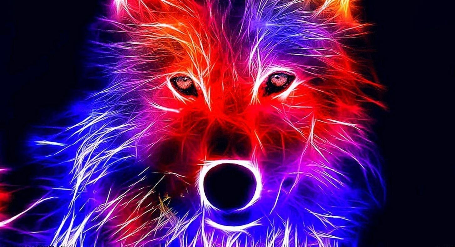 1455x792 Wallpapers Wolf Red - Wolf-Wallpapers.Pro