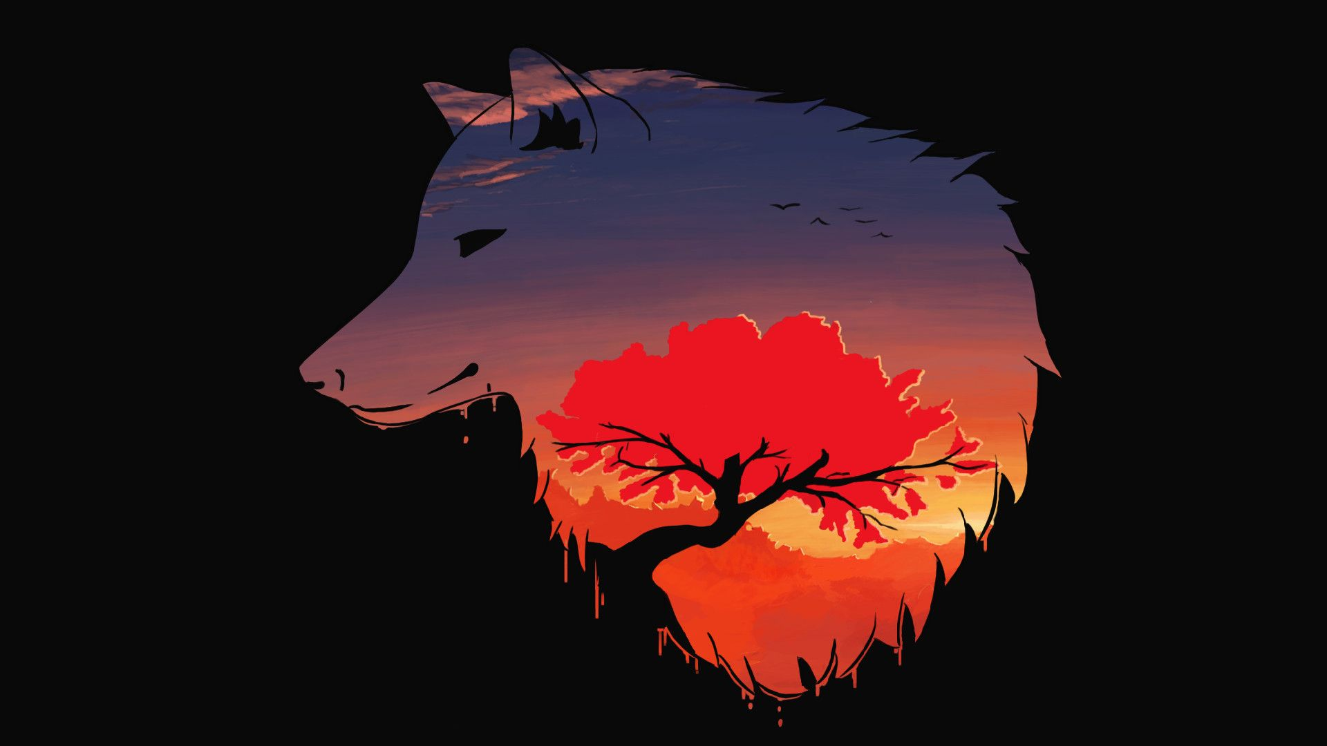 1920x1080 74+ Wolf Art Wallpapers on WallpaperPlay