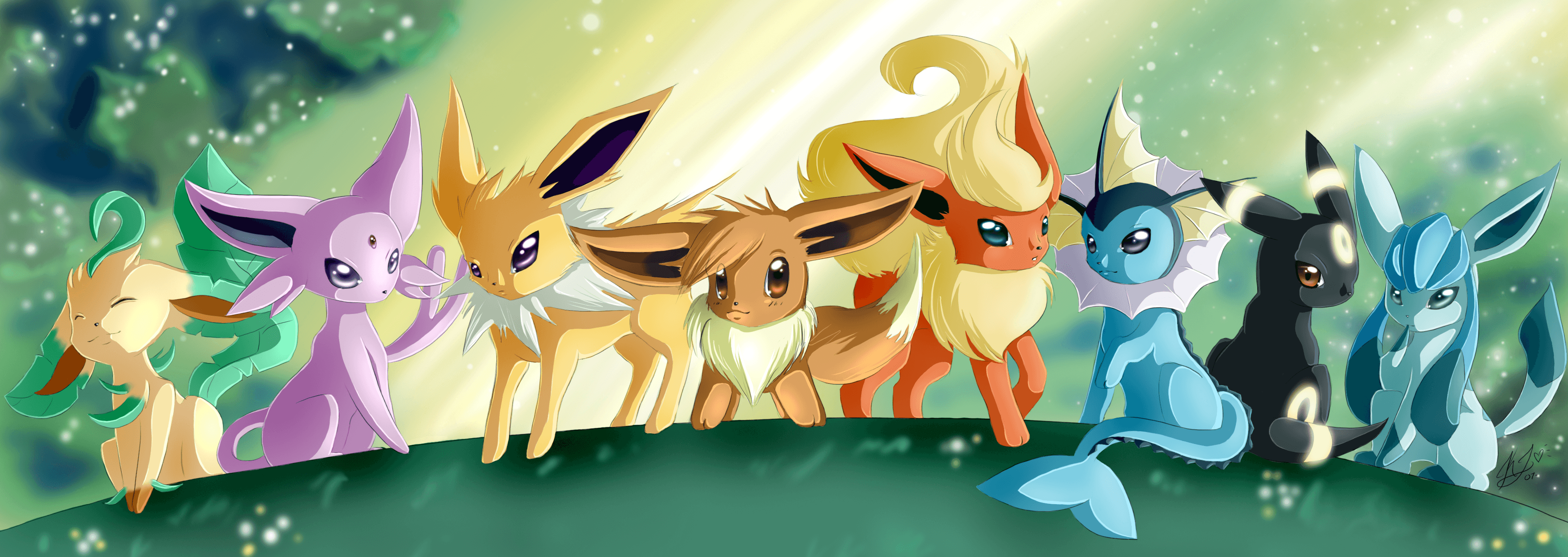 3800x1350 21 Leafeon (Pokémon) HD Wallpapers | Background Images - Wallpaper Abyss