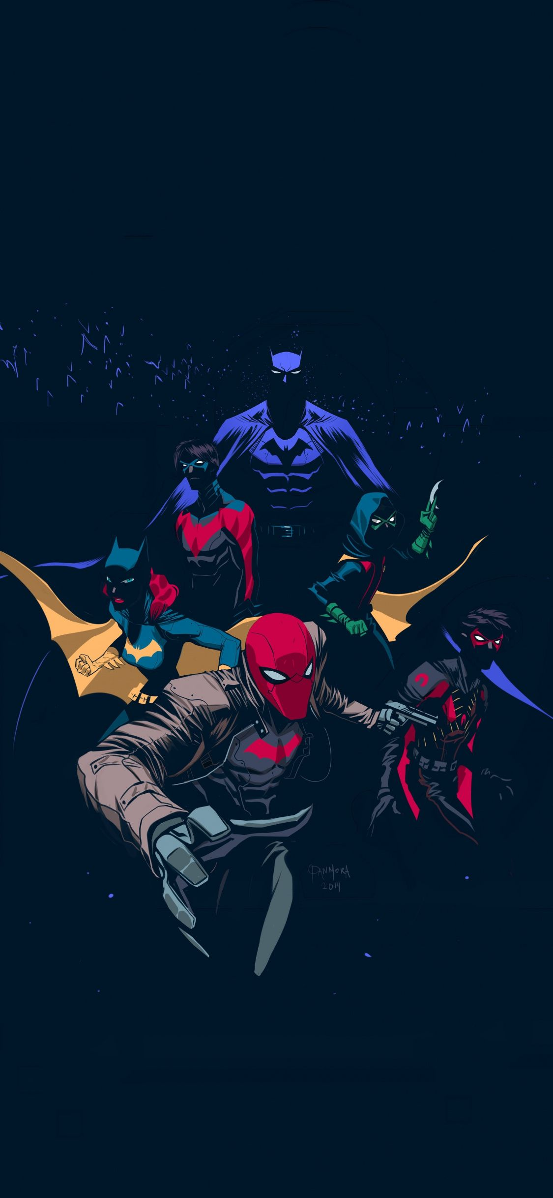1125x2436 Download 1125x2436 wallpaper batfamily, robin, red hood ...