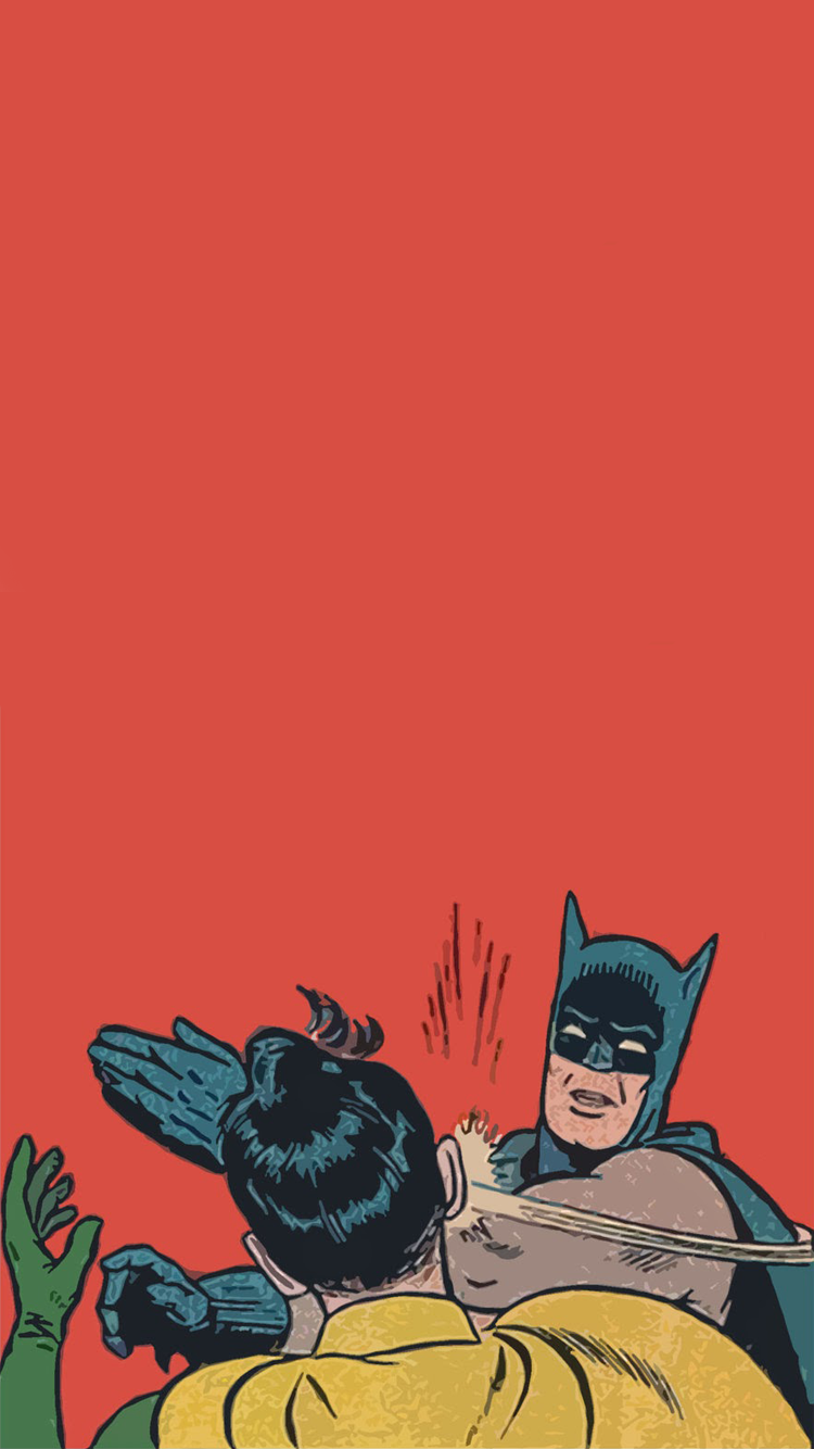 750x1334 Batman Slapping Robin wallpaper : iWallpaper