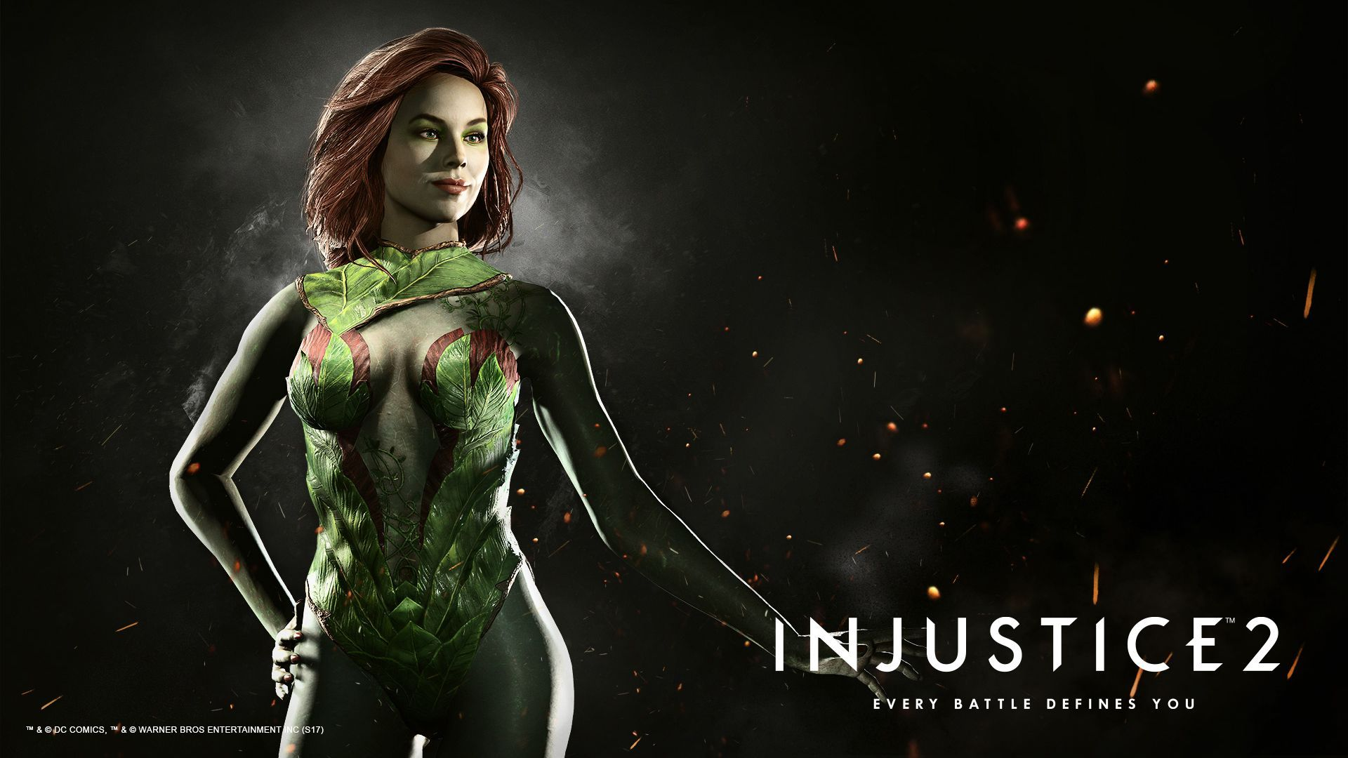 1920x1080 Poison Ivy. Wallpaper from Injustice 2 | gamepressure.com