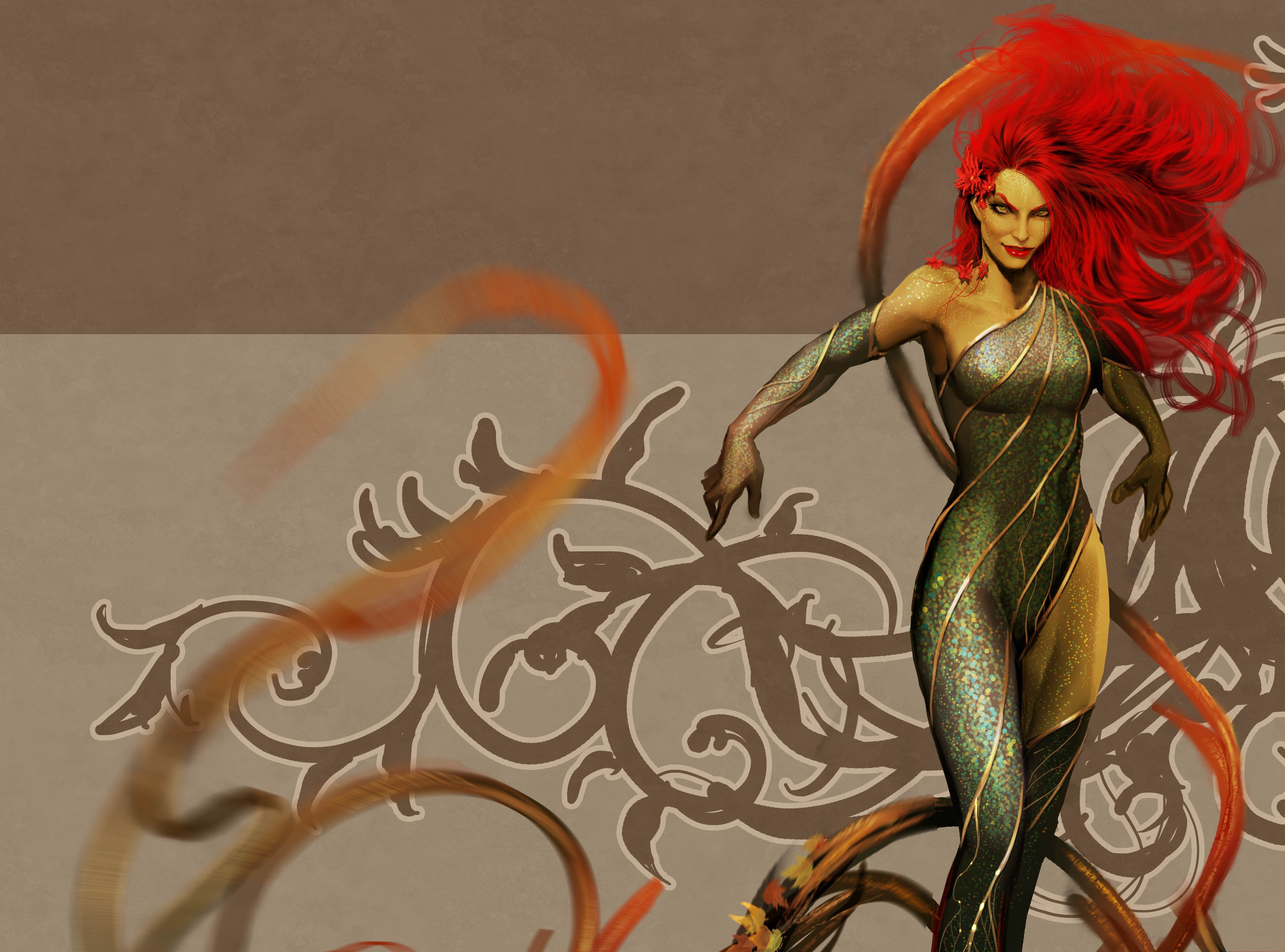 6958x5154 2960092 artwork poison ivy wallpaper and background ...