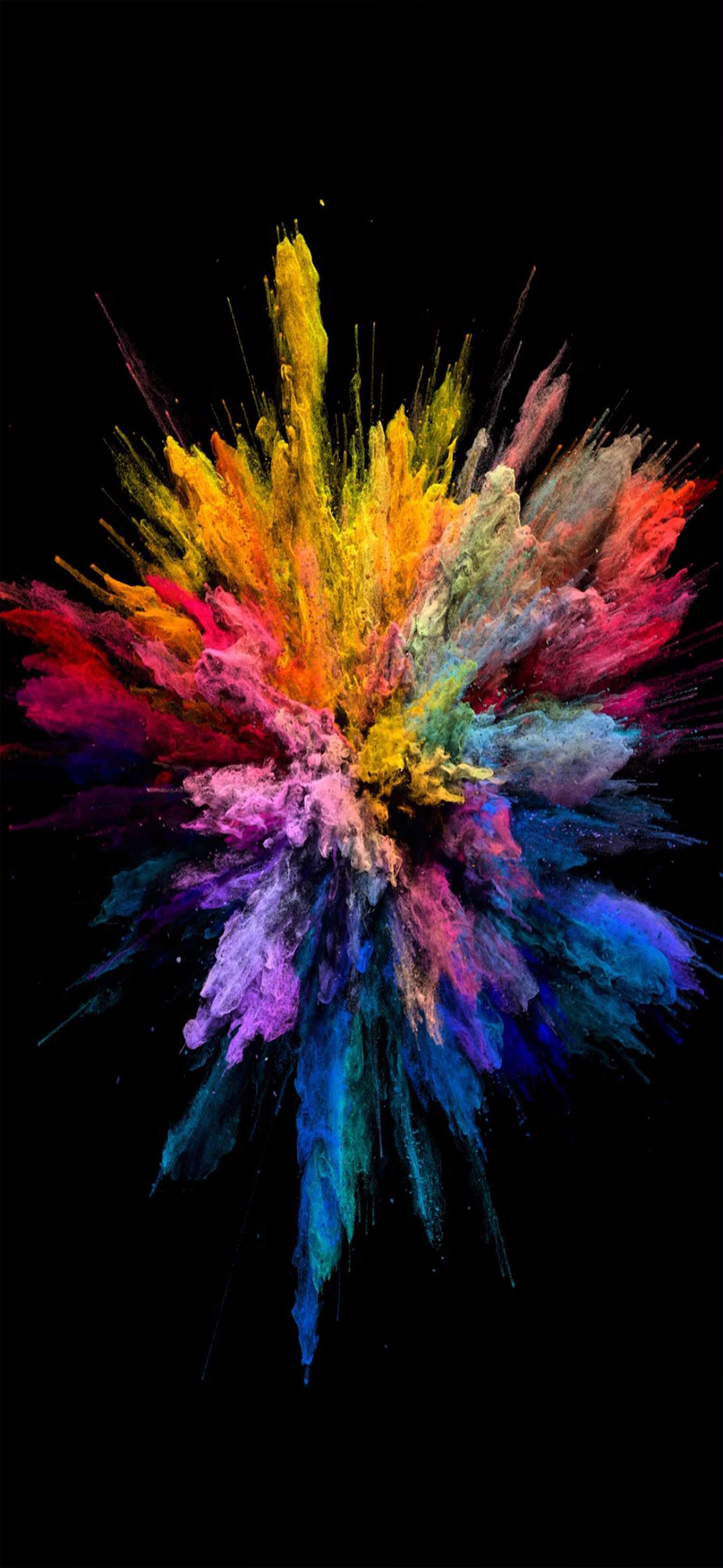 1301x2820 Explosion of Colors - Wallpapers Central