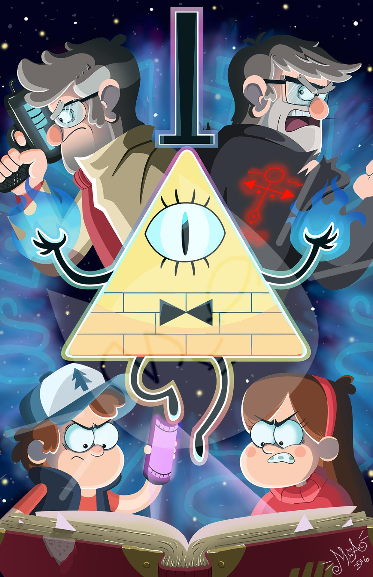 1242x1920 gravity falls bill cipher wallpaper 4k for Android - APK ...