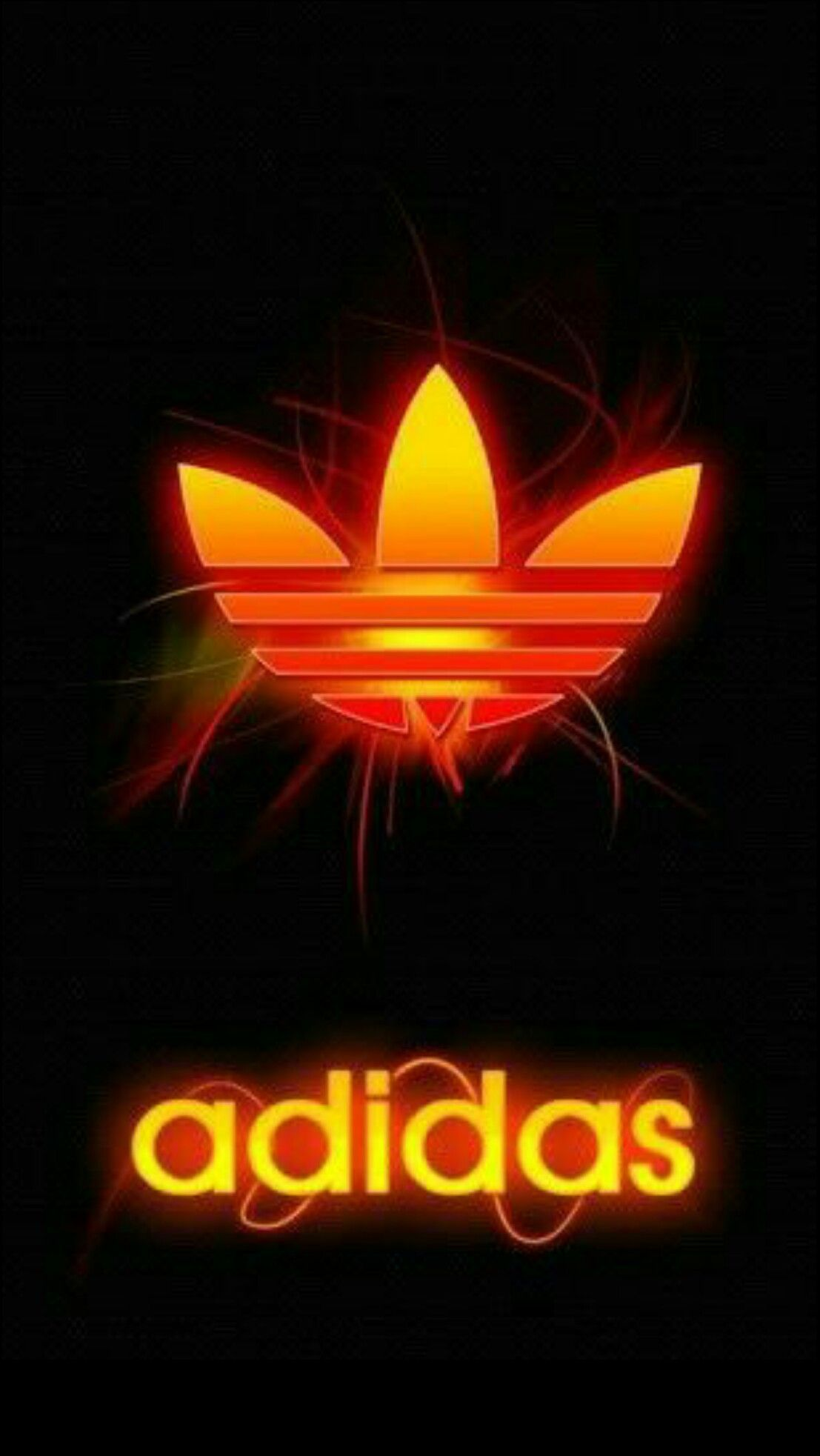 1107x1965 Adidas Logo Wallpapers Neon